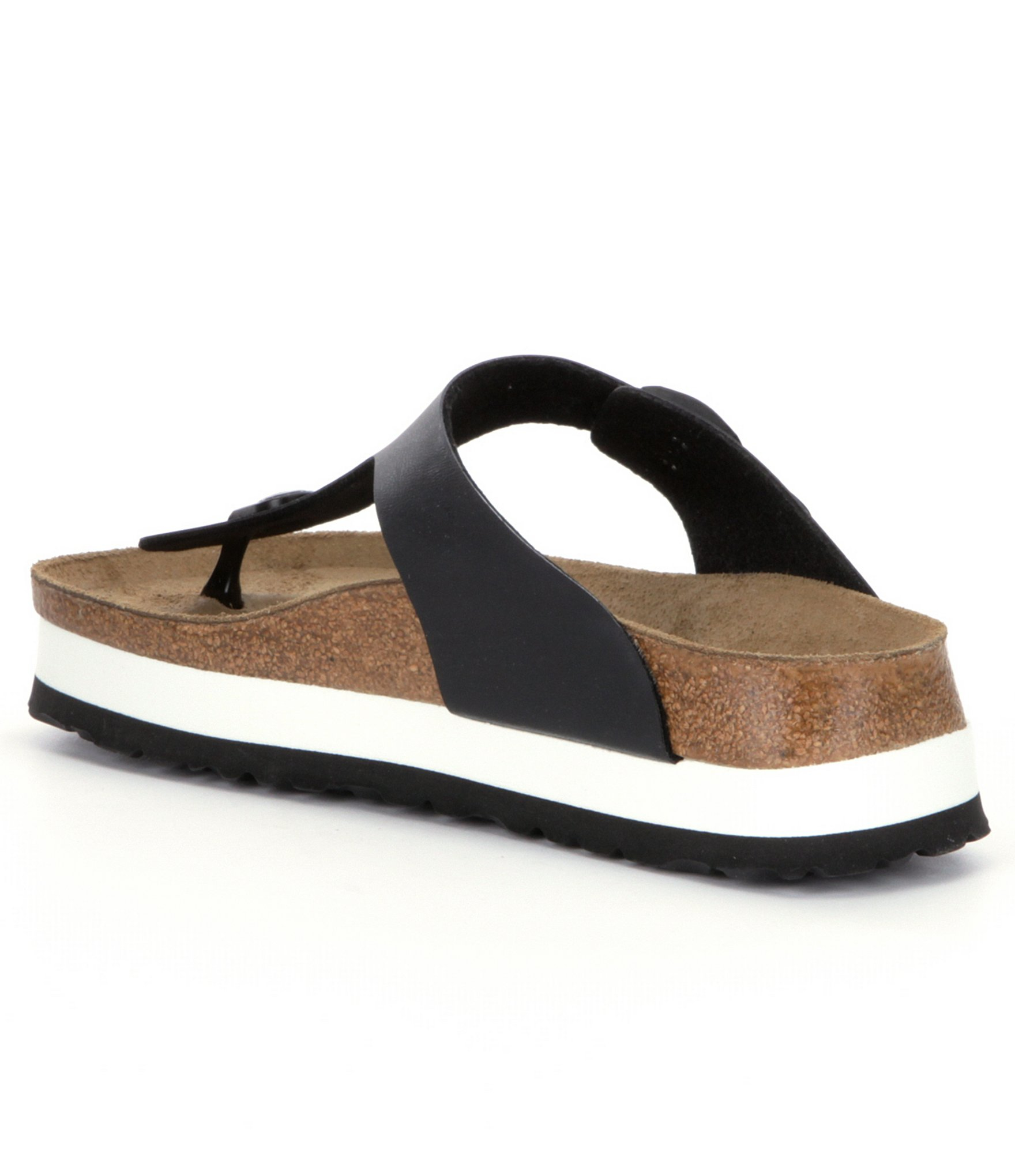 Birkenstock Gizeh Women S Platform Sandals In Black Lyst