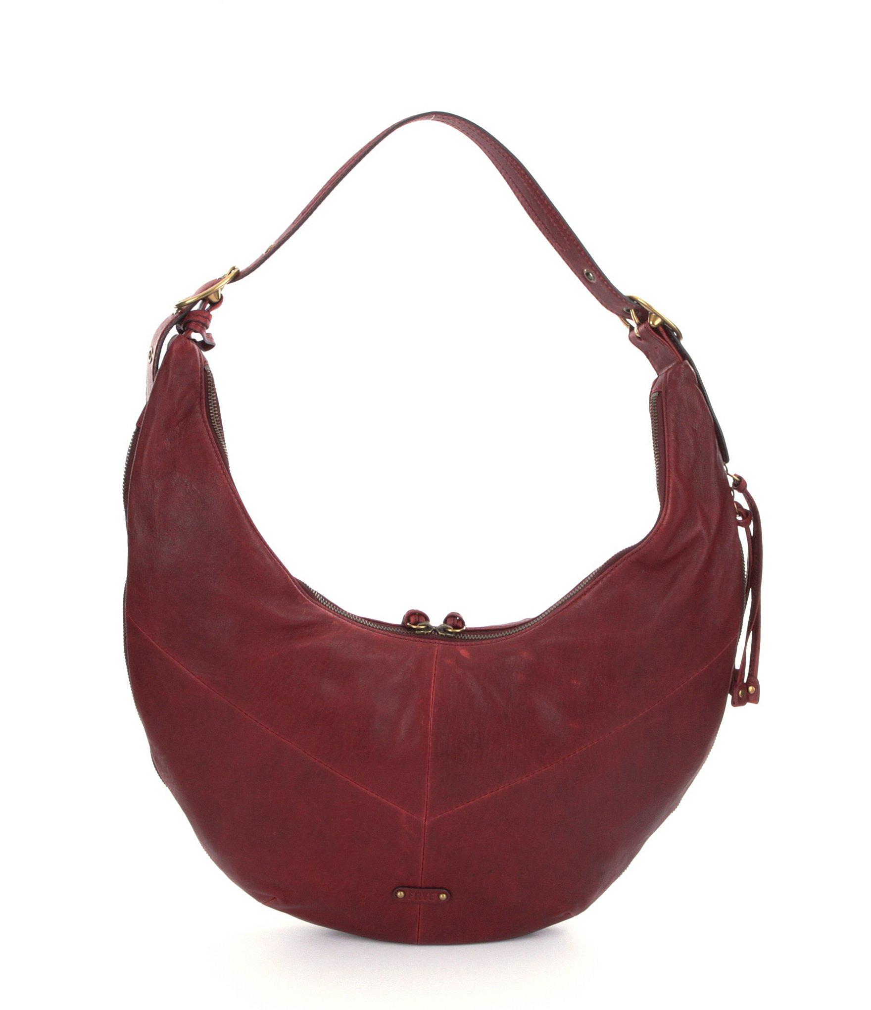 Lyst - Frye Belle Bohemian Hobo Bag in Red 634b2df72d3d8