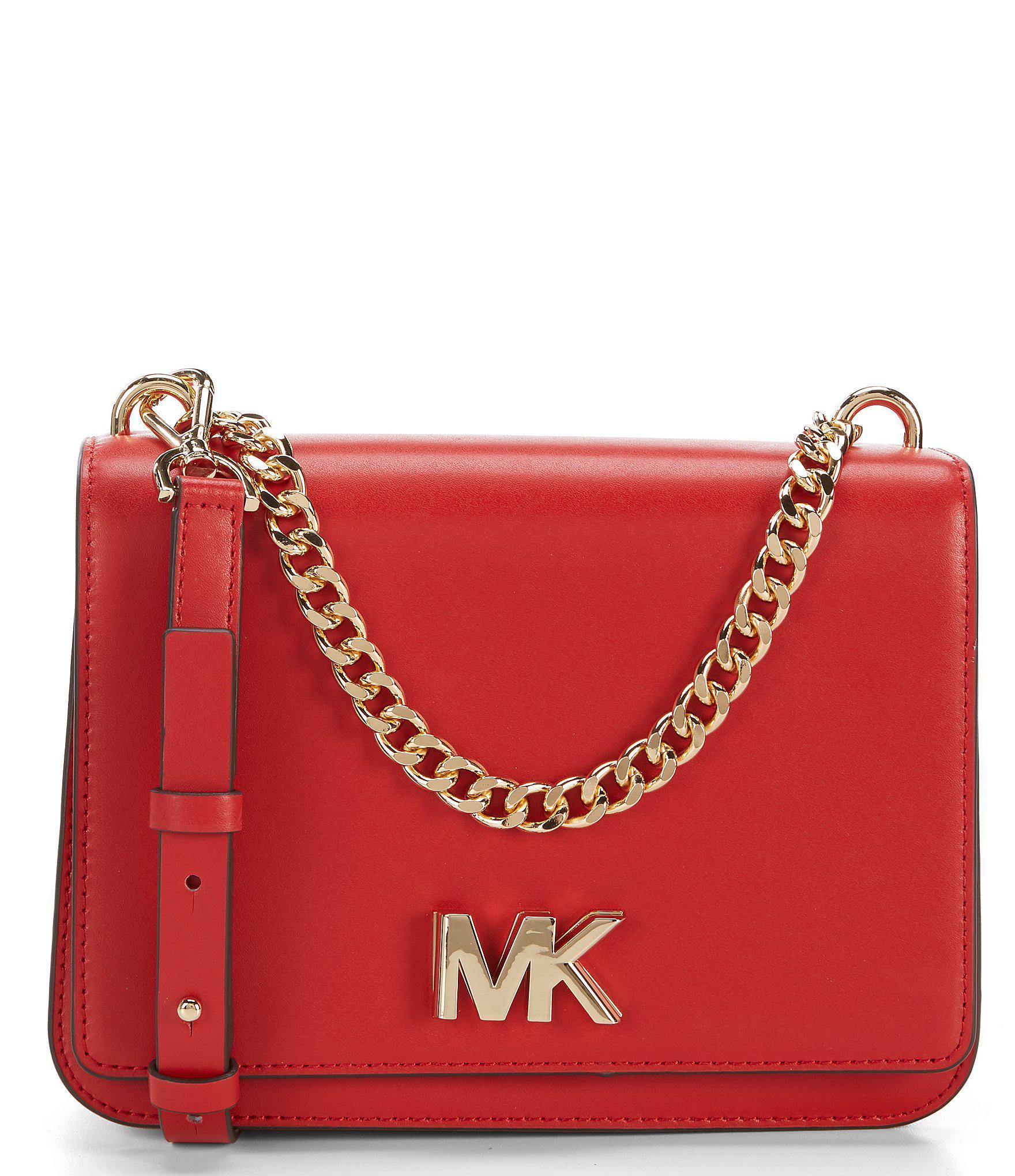 135106f80c0 Lyst - MICHAEL Michael Kors Mott Large Chain Swag Shoulder Bag in Red