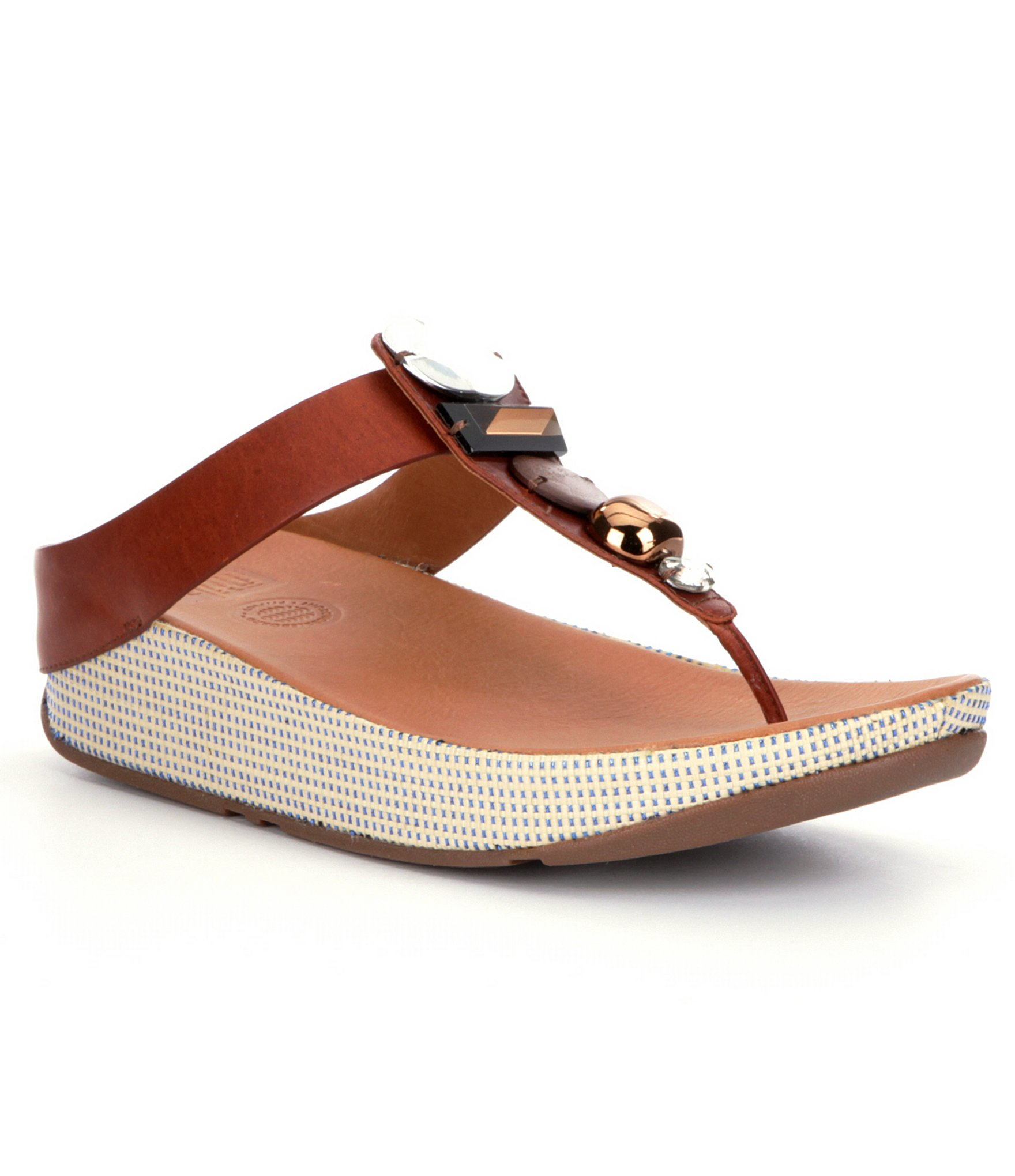 Lyst Fitflop Jeweley Leather Jeweled Toe Post Thong