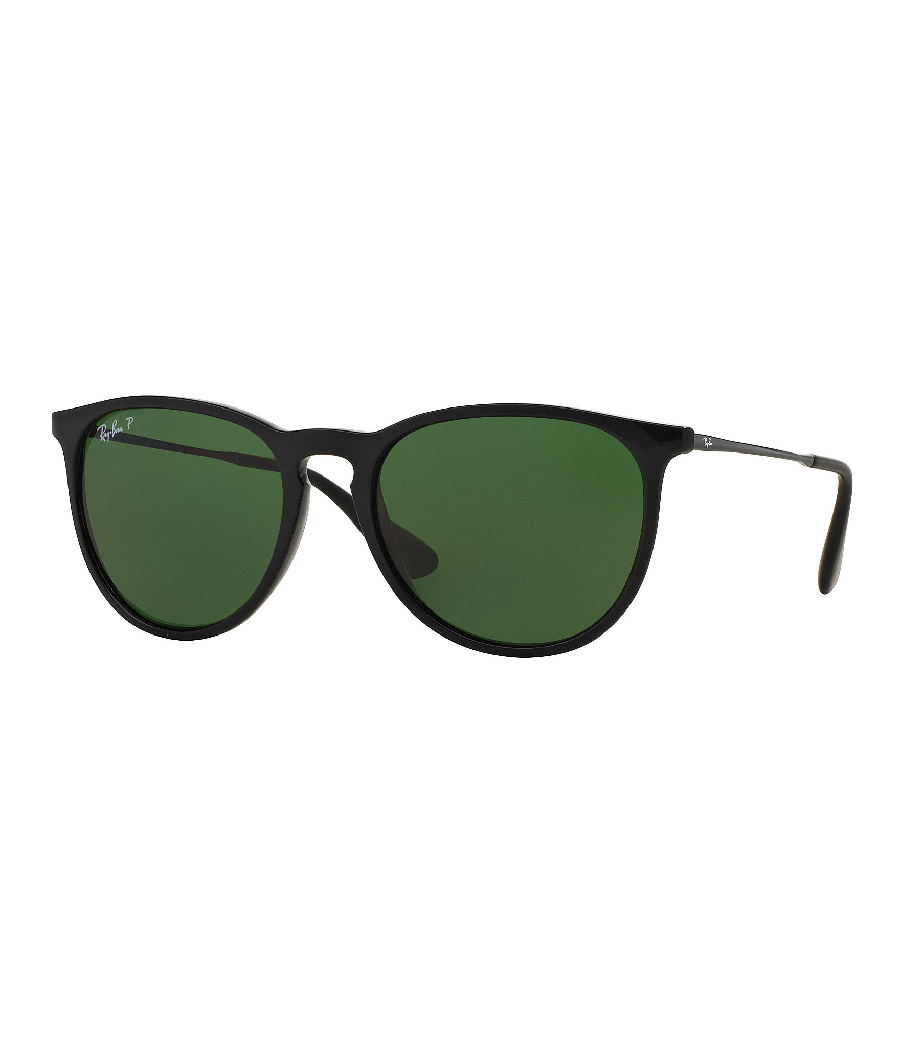 ray ban erika polarized round sunglasses in green lyst. Black Bedroom Furniture Sets. Home Design Ideas
