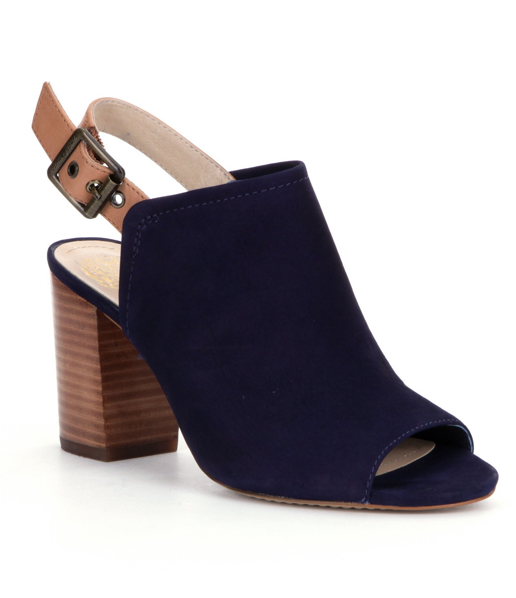 Lyst Vince Camuto Brianny Peep Toe Shooties In Blue