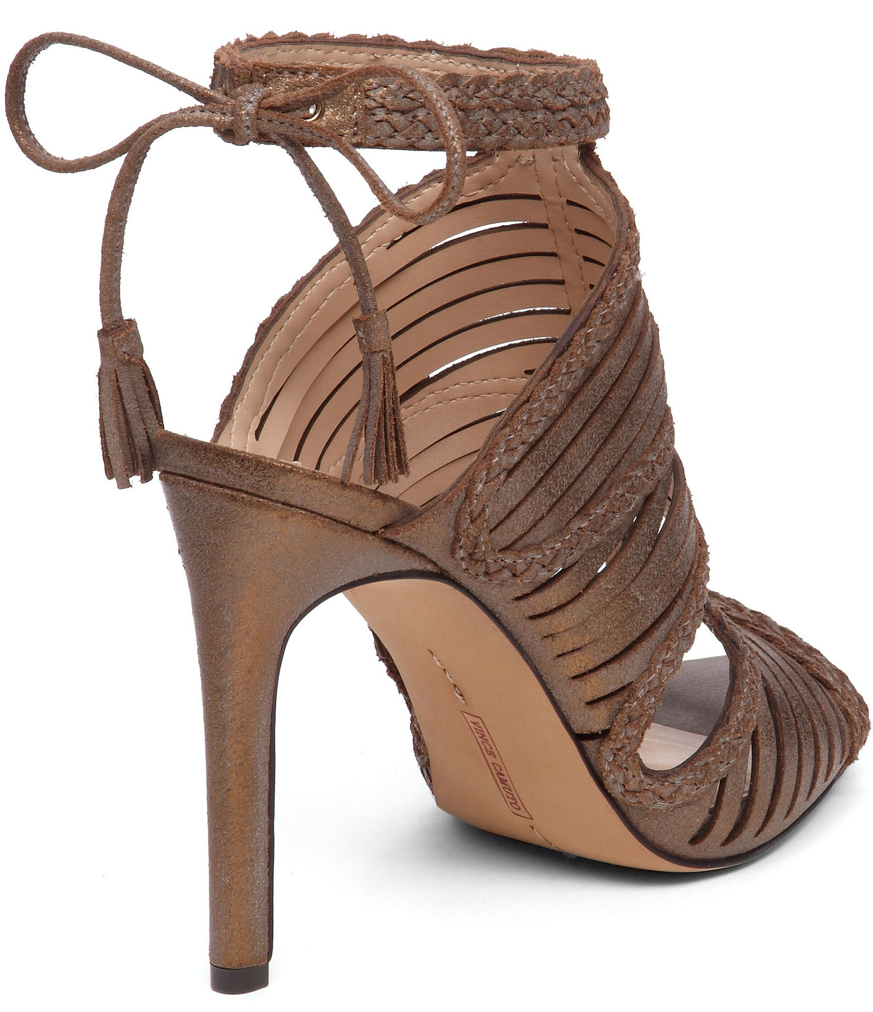 Vince camuto Kabira Strappy High Heel Sandals in Brown | Lyst