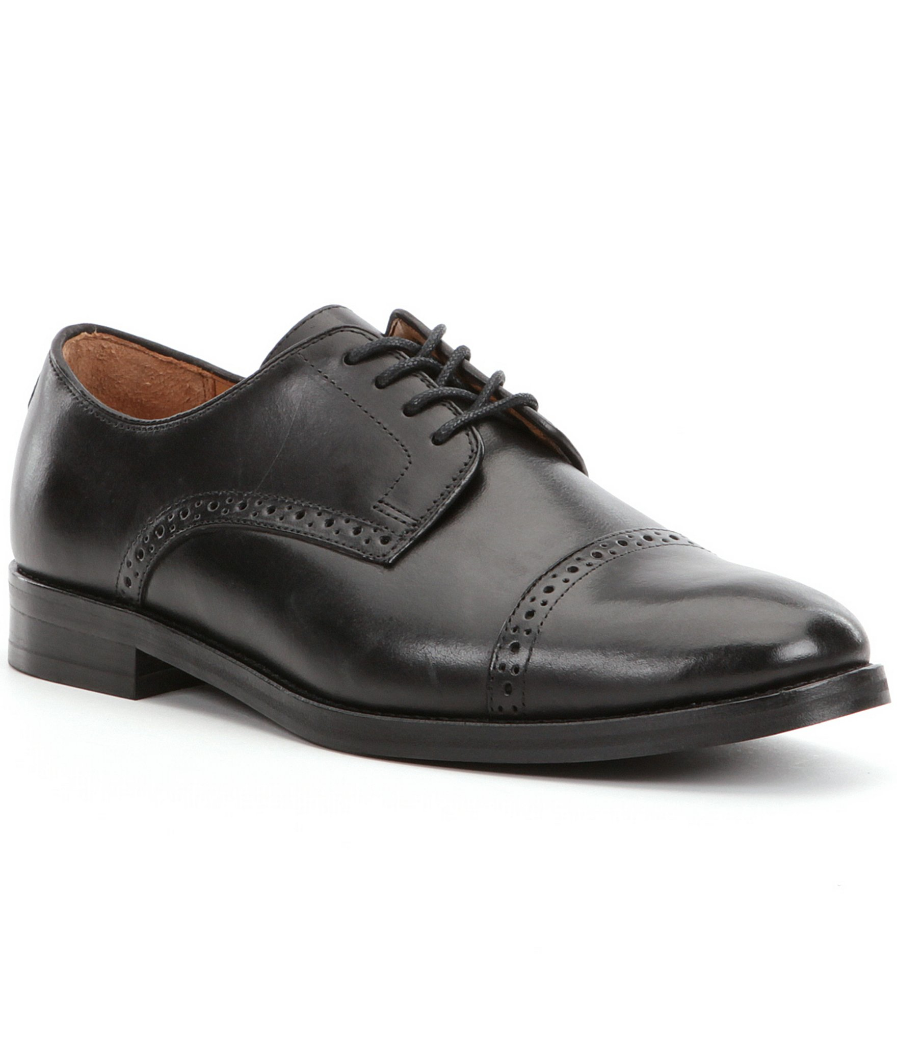 polo ralph s morgfield cap toe dress shoes in