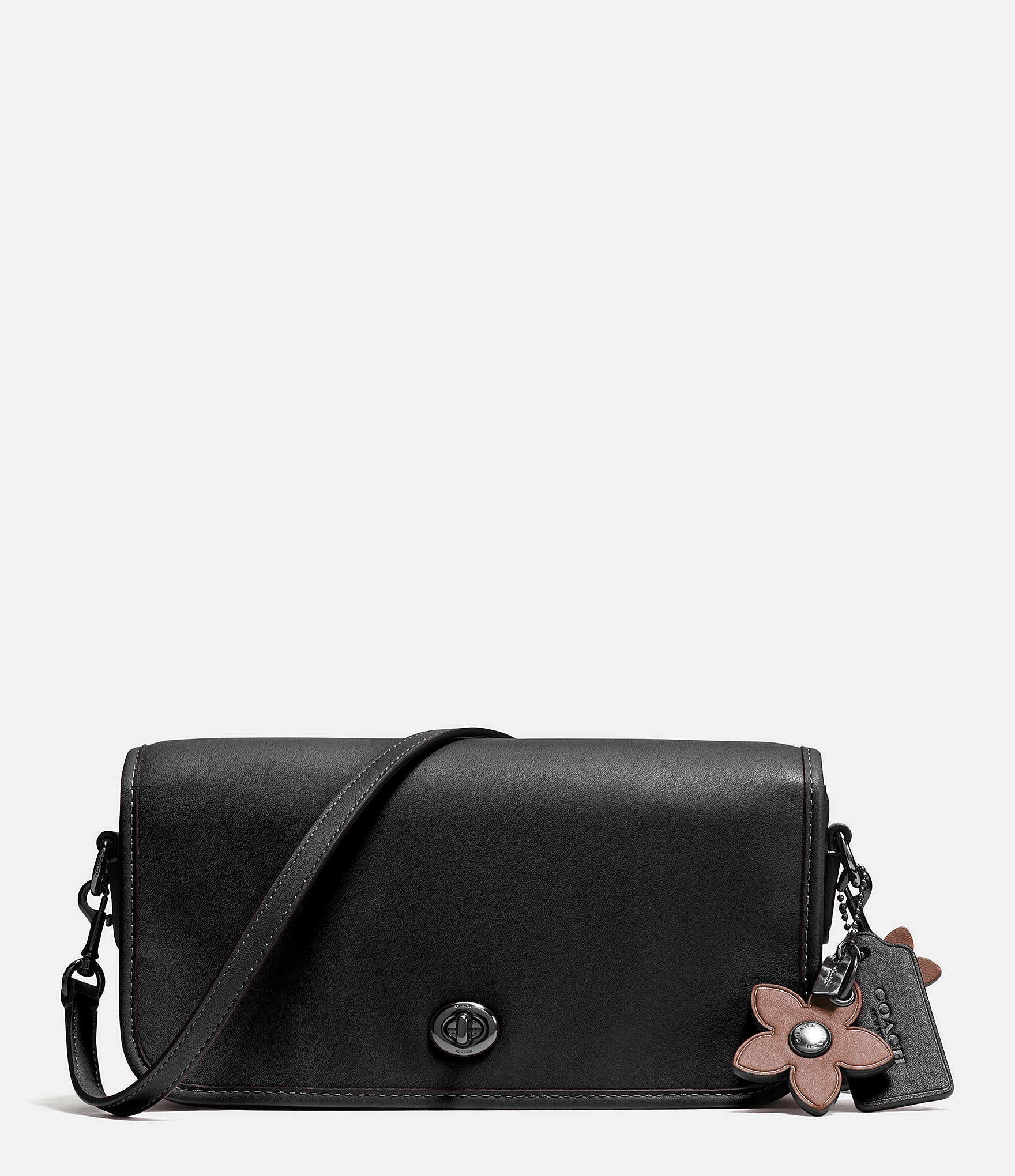 c9f203b47e88d ... closeout coach turnlock crossbody in glovetanned leather in black ly  6a40f b5e34