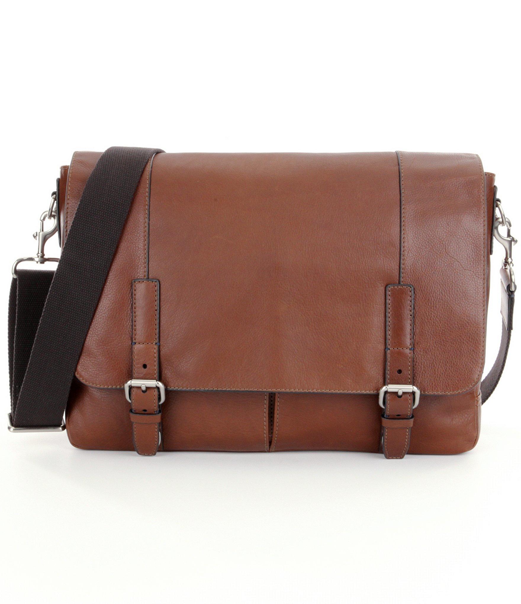 Elegant Fossil Defender Brown Messenger Bag Ladies Handbags