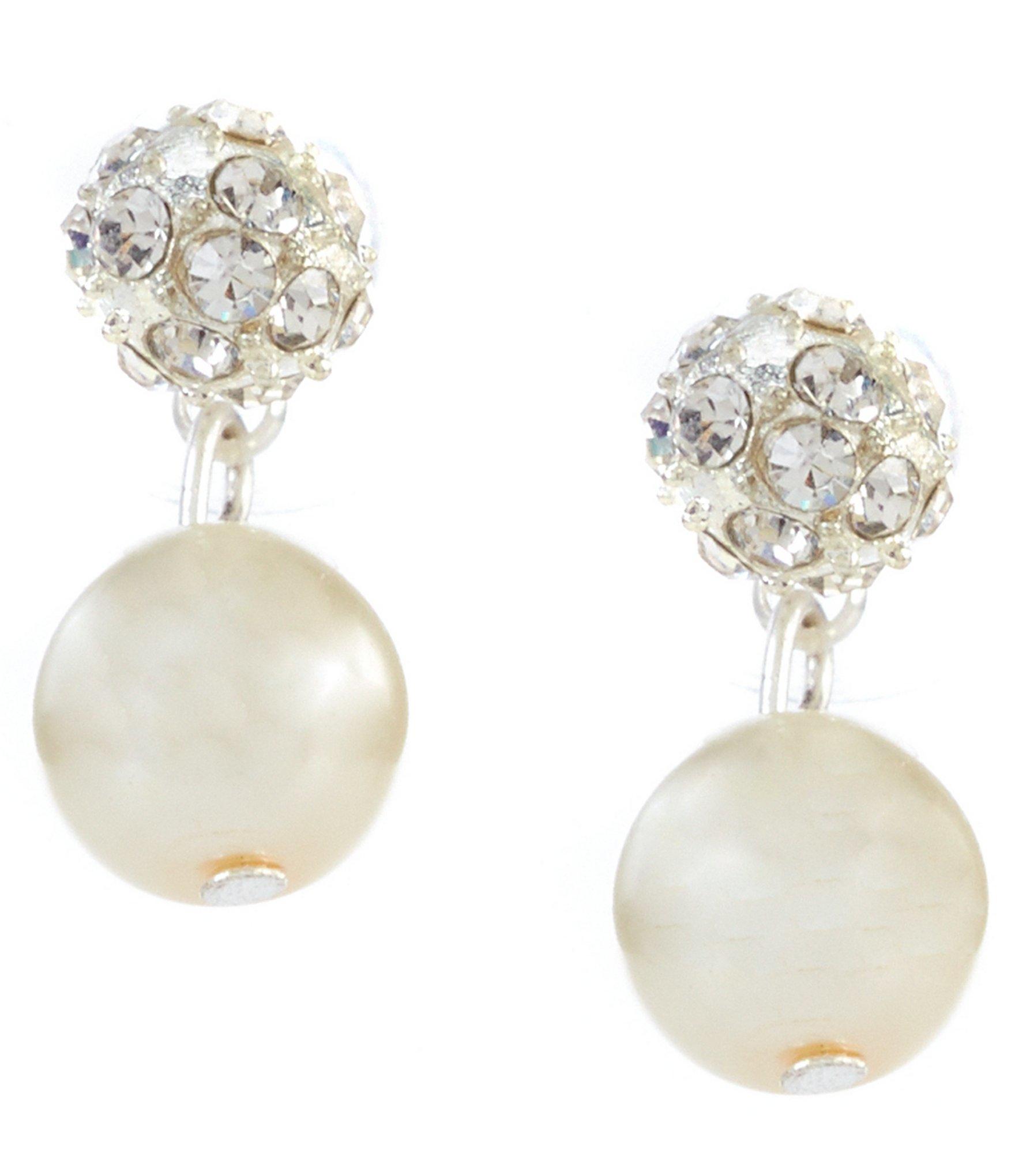 cezanne fireball pearl drop earrings in metallic lyst