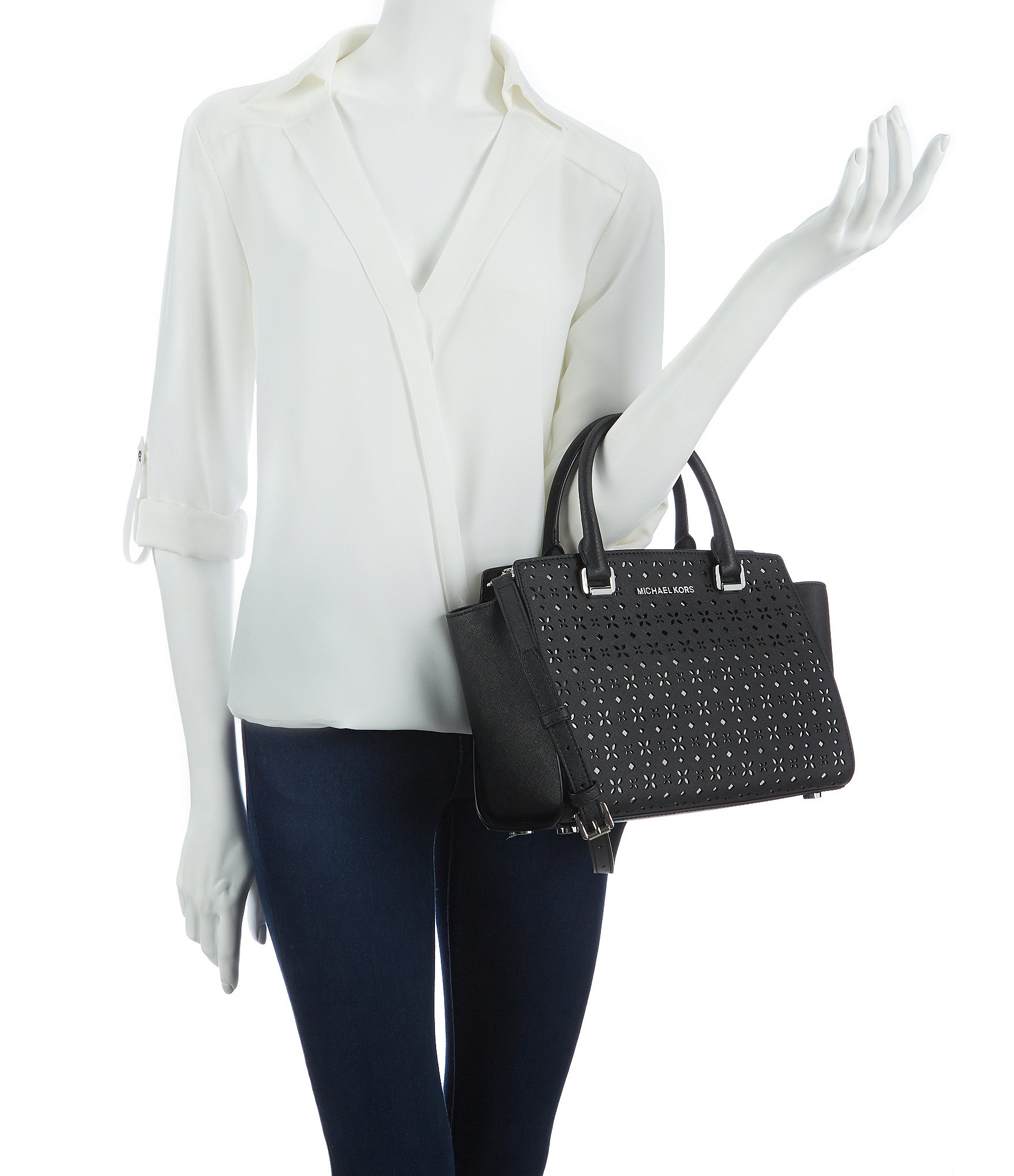 79eaf32f1b11 Gallery. Previously sold at  Dillard s · Women s Michael By Michael Kors  Selma ...