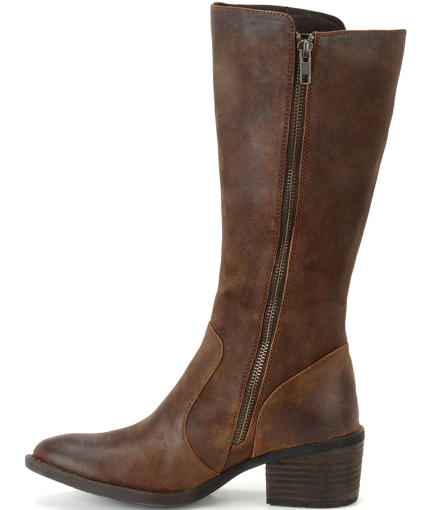 Born Beckett Block Heel Boots Lyst