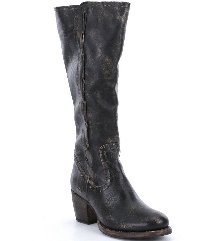 bed stu fate distressed leather boots in black | lyst