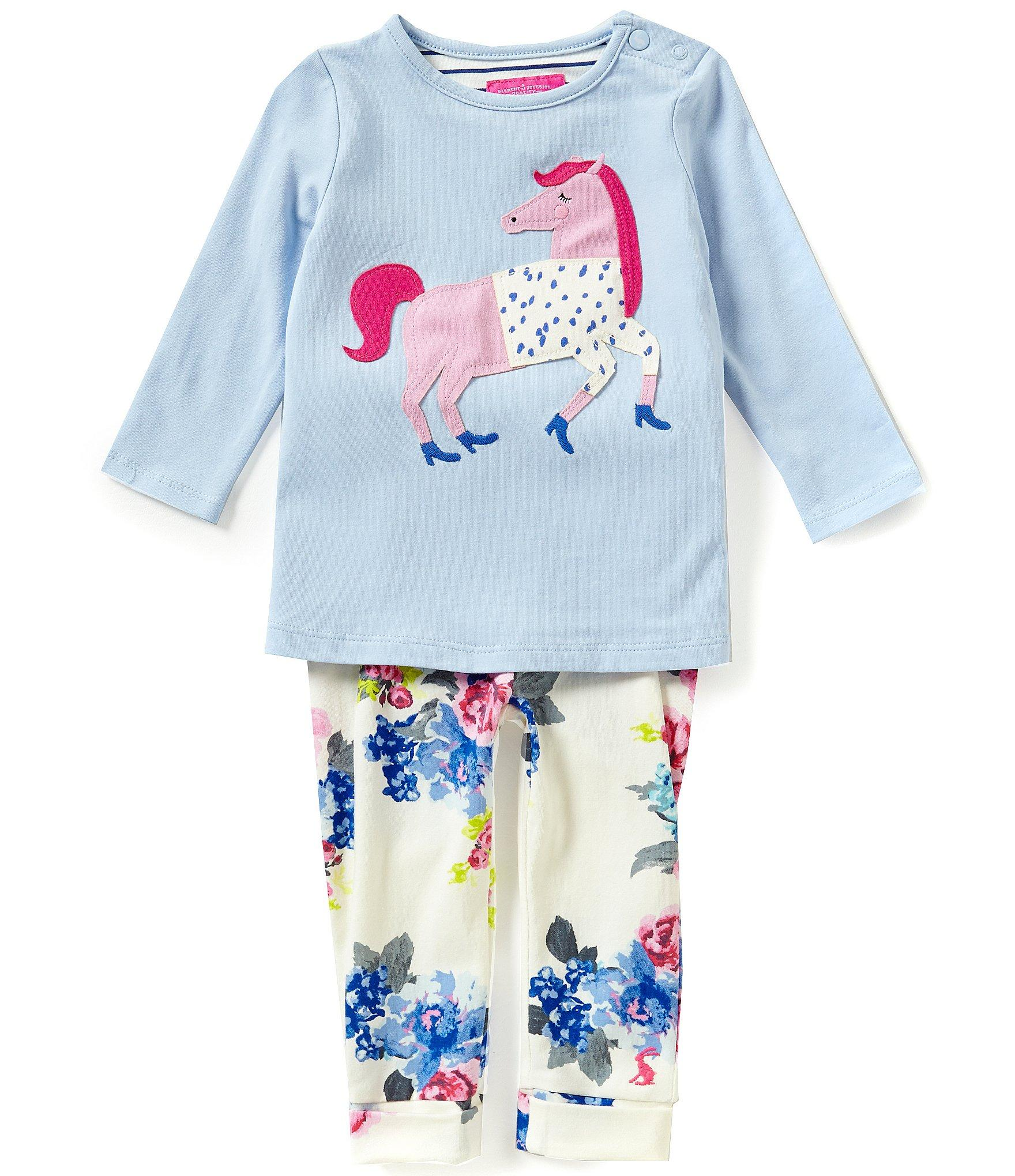 Joules Baby Girls Newborn 12 Months Unicorn Top And Floral