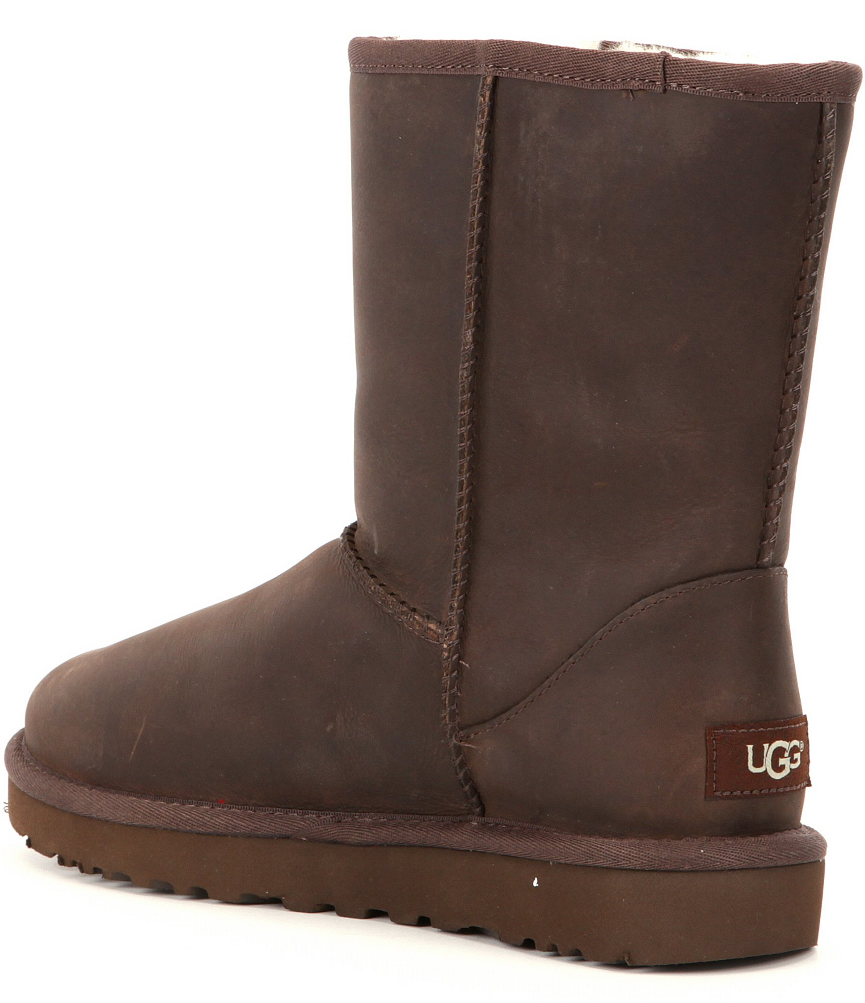 ugg 174 classic water resistant leather boots in brown