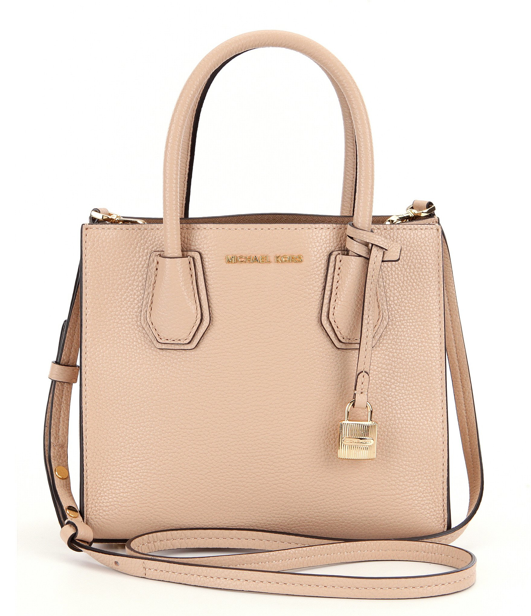 MICHAEL Michael Kors Studio Mercer Medium Messenger Bag in Natural ... 71709f22d7aa5