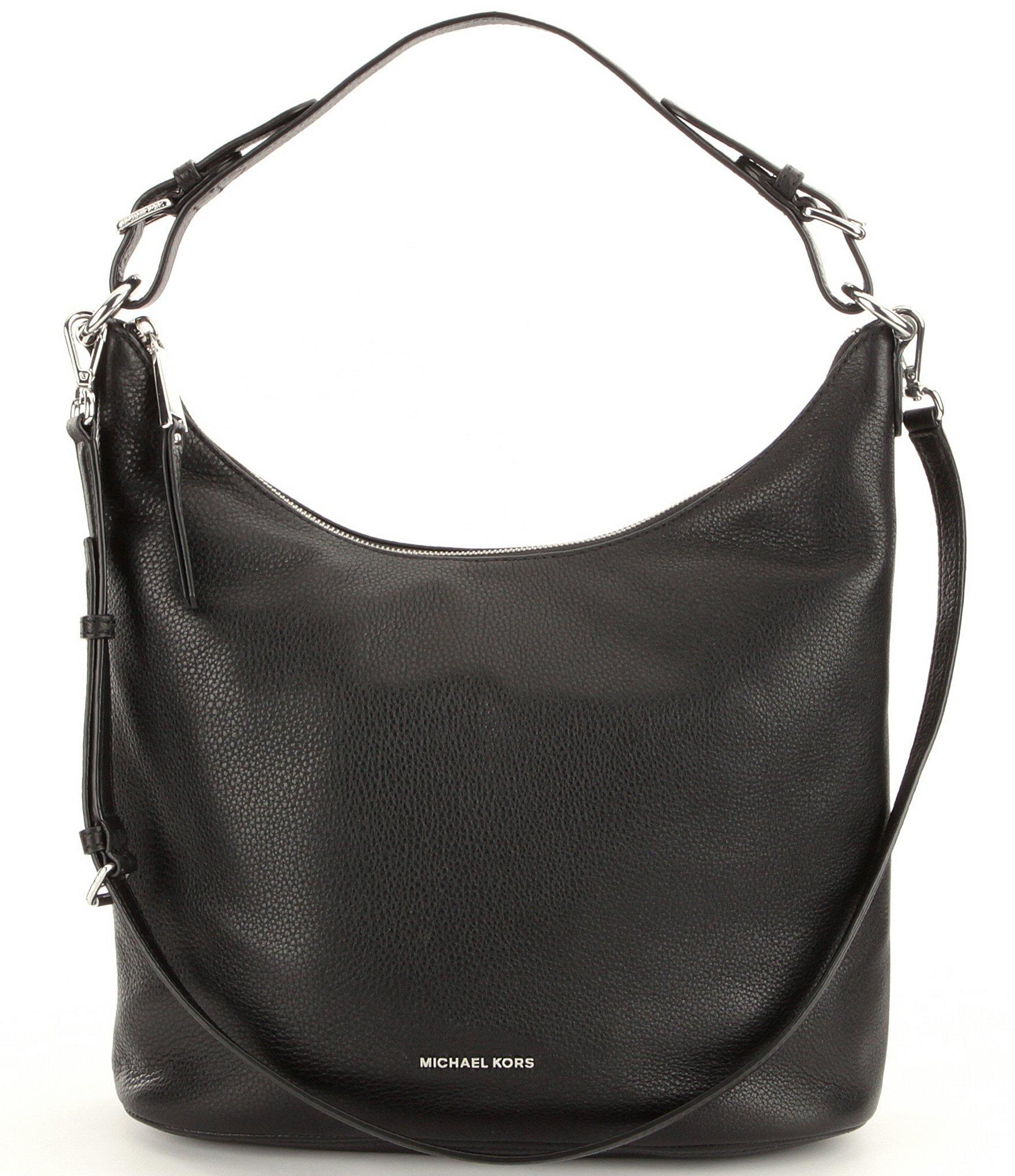 Lyst - MICHAEL Michael Kors Lupita Large Hobo Bag in Black 22b79f4f89