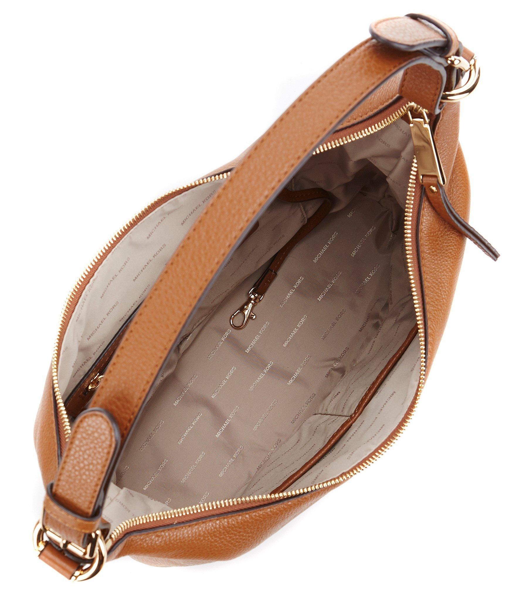 Lyst - MICHAEL Michael Kors Lupita Large Hobo Bag in Brown 6ce20348f7