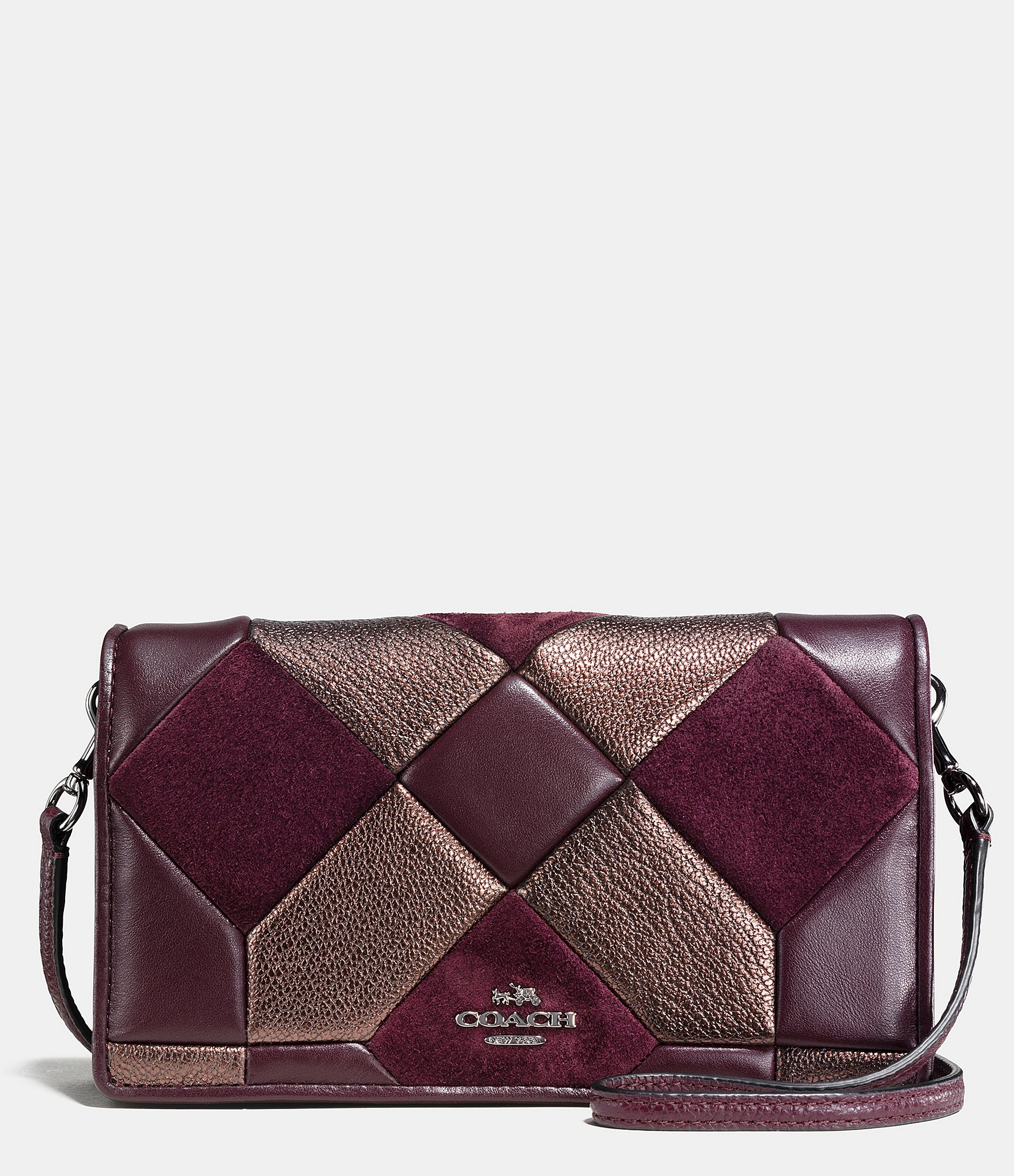 Lyst Coach Canyon Quilt Foldover Crossbody In Mixed