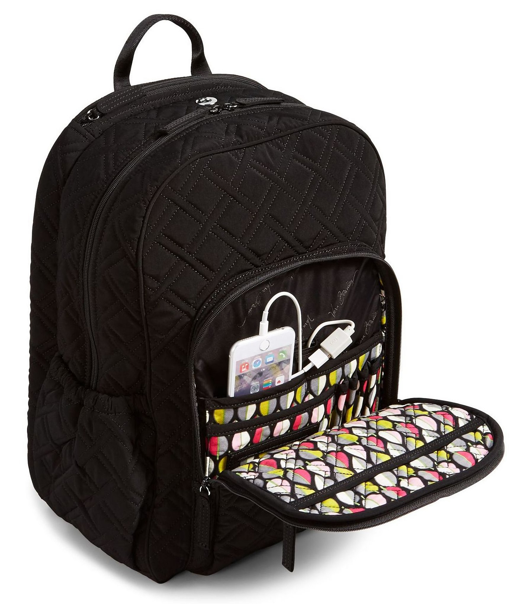 57923a6d68 Lyst - Vera Bradley Keep Charged Campus Tech Laptop Backpack in Black
