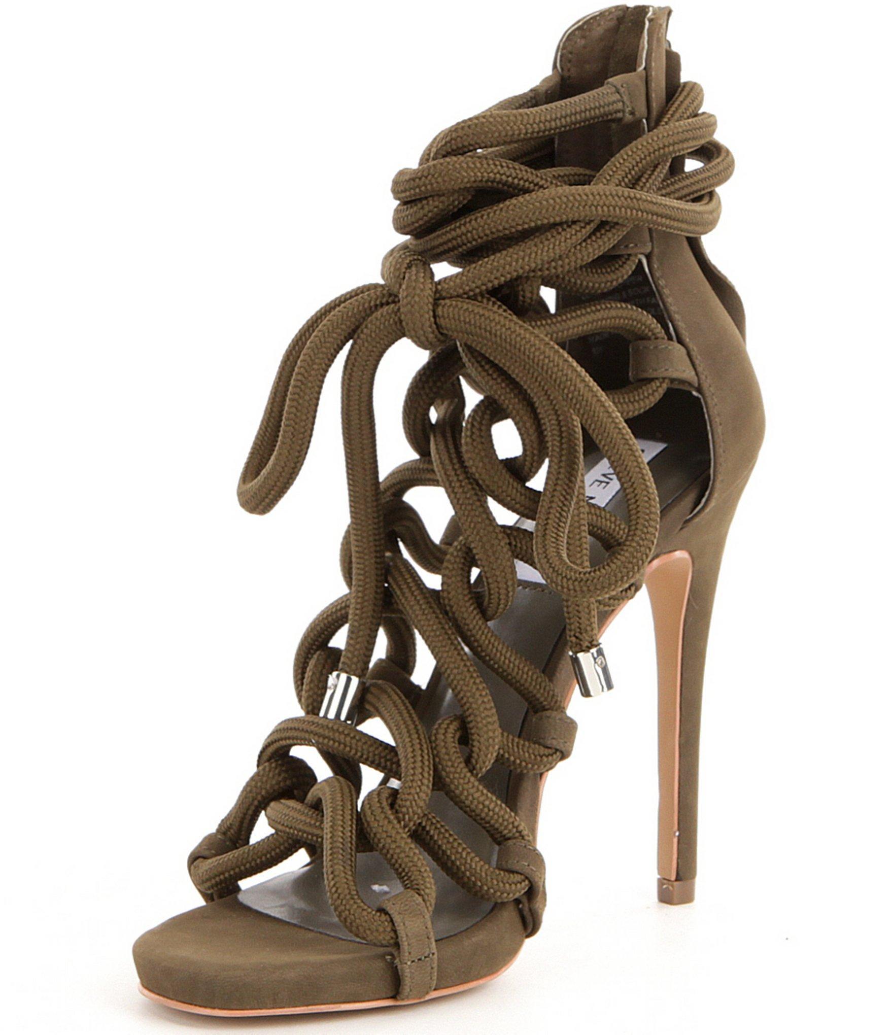 0e08e3cead5a4 Steve Madden Dancin Back Zip Bungee Inspired Lace-up High Heel Dress ...
