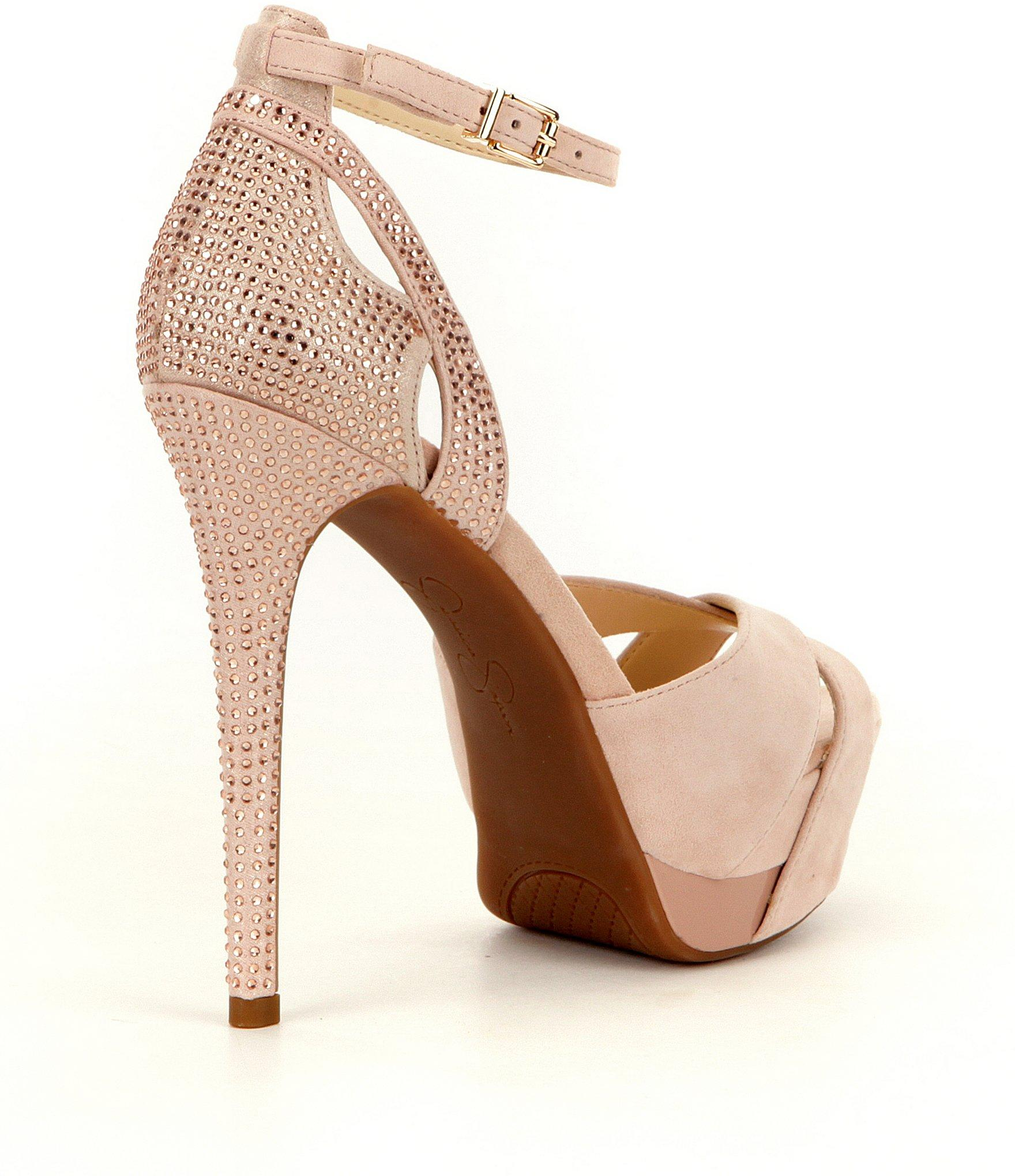 0119db1dcd0 Lyst - Jessica Simpson Wendah Rhinestone Detail Platform Dress ...