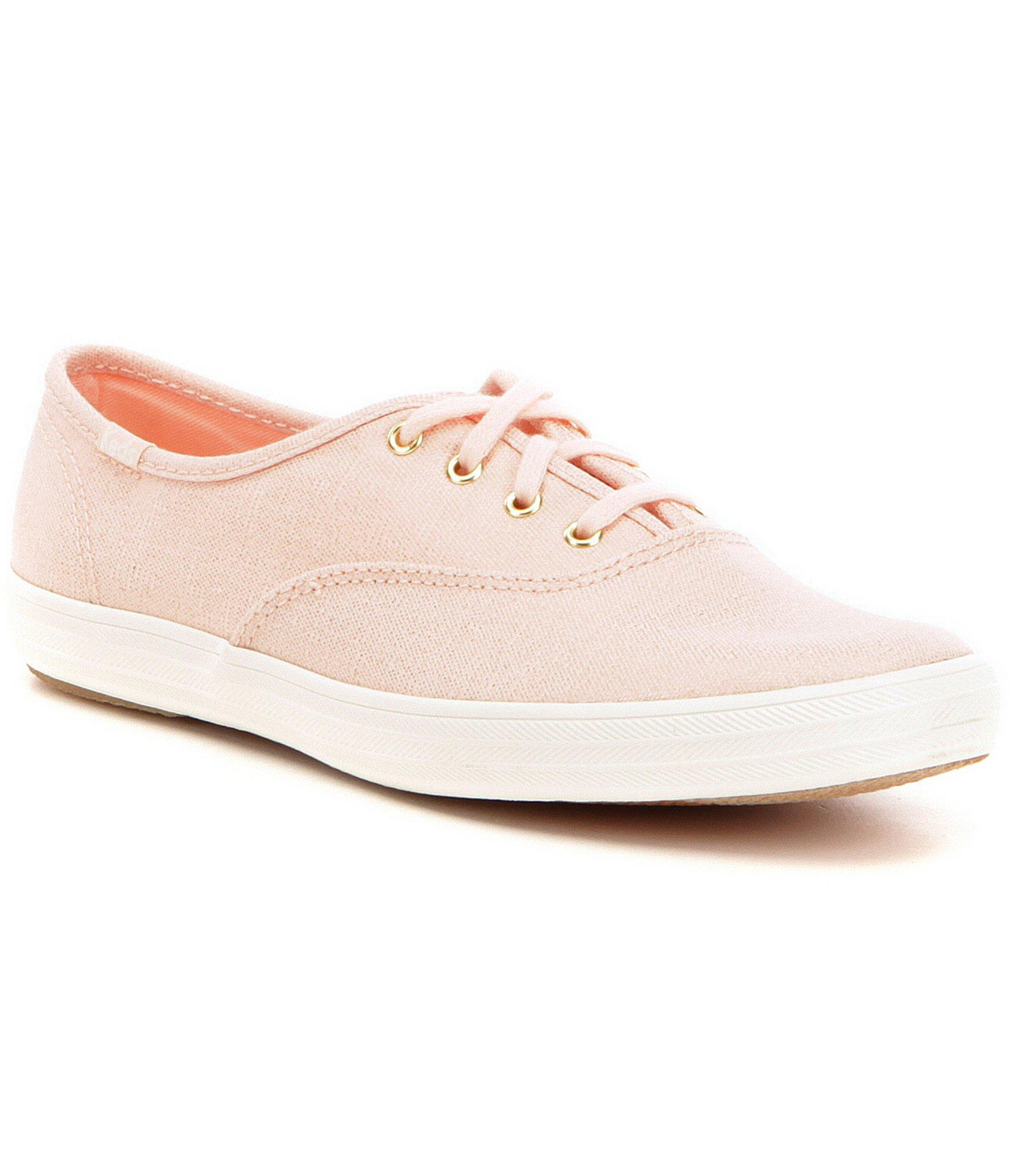 dbf39423e4531 Lyst - Keds Champion Metallic Twill Lace Up Sneakers in Pink