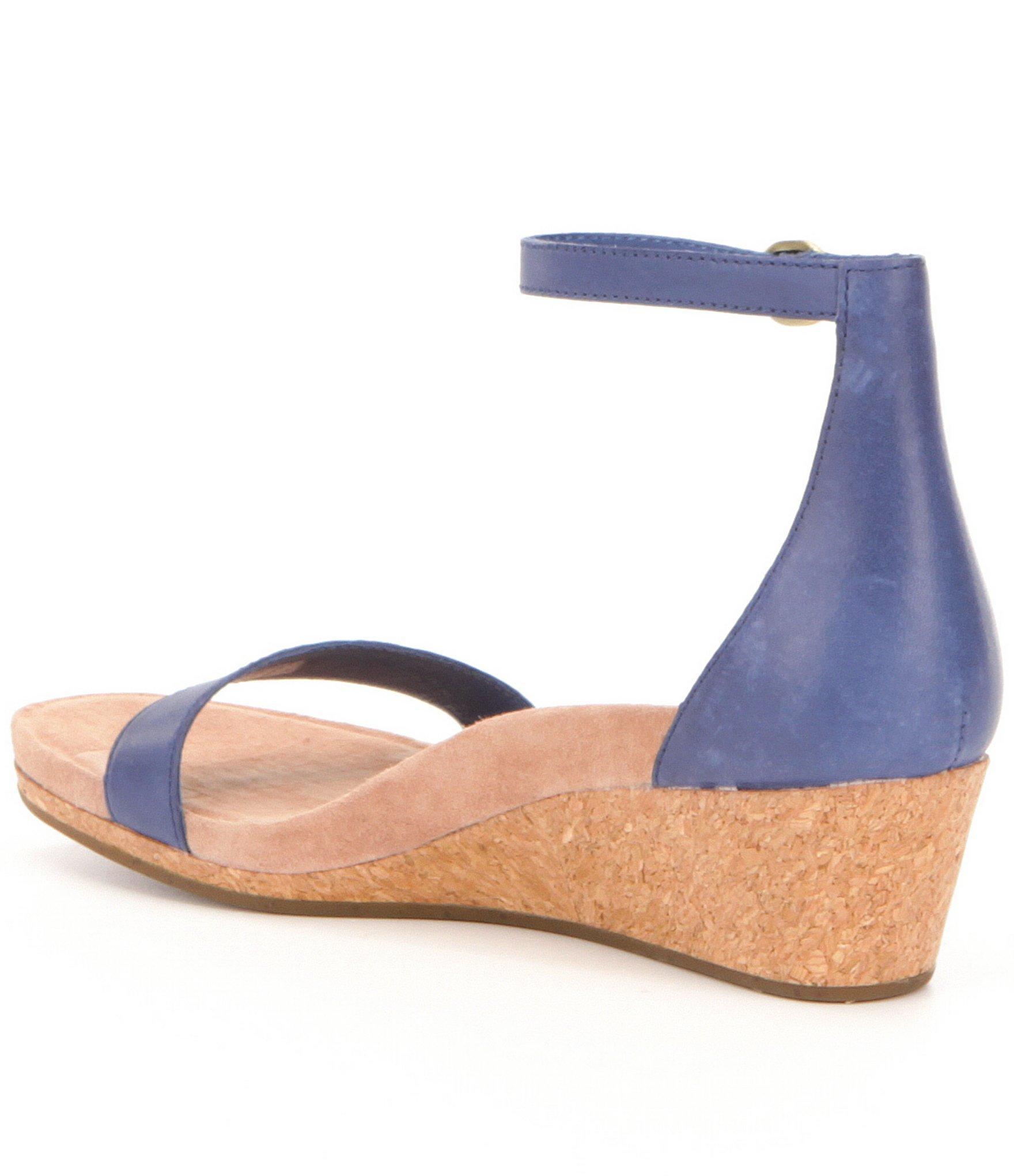 Lyst Ugg Emilia Wedge Sandals In Blue