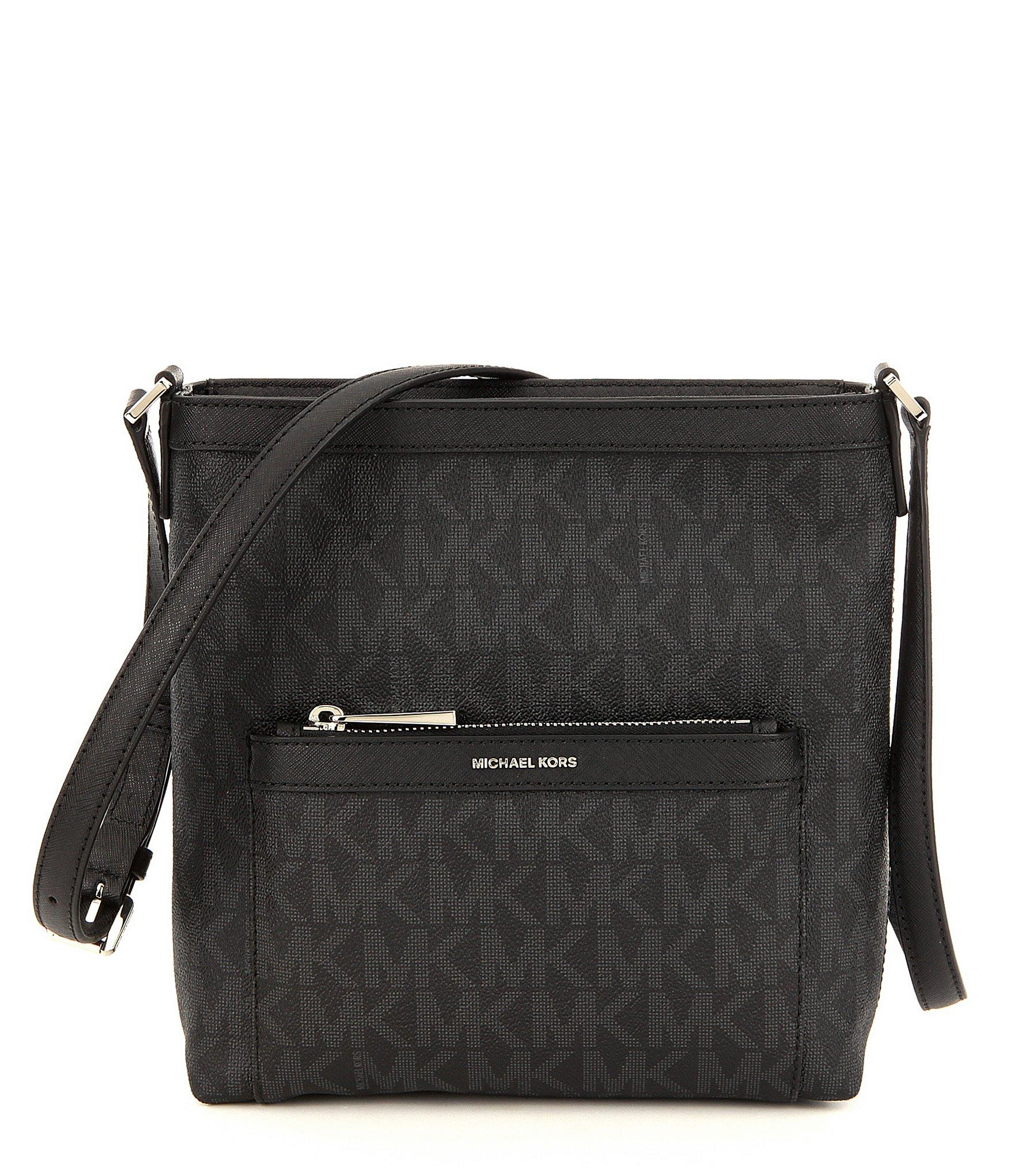 26824fd951 ... top quality lyst michael michael kors morgan signature medium messenger  bag in fda16 18292