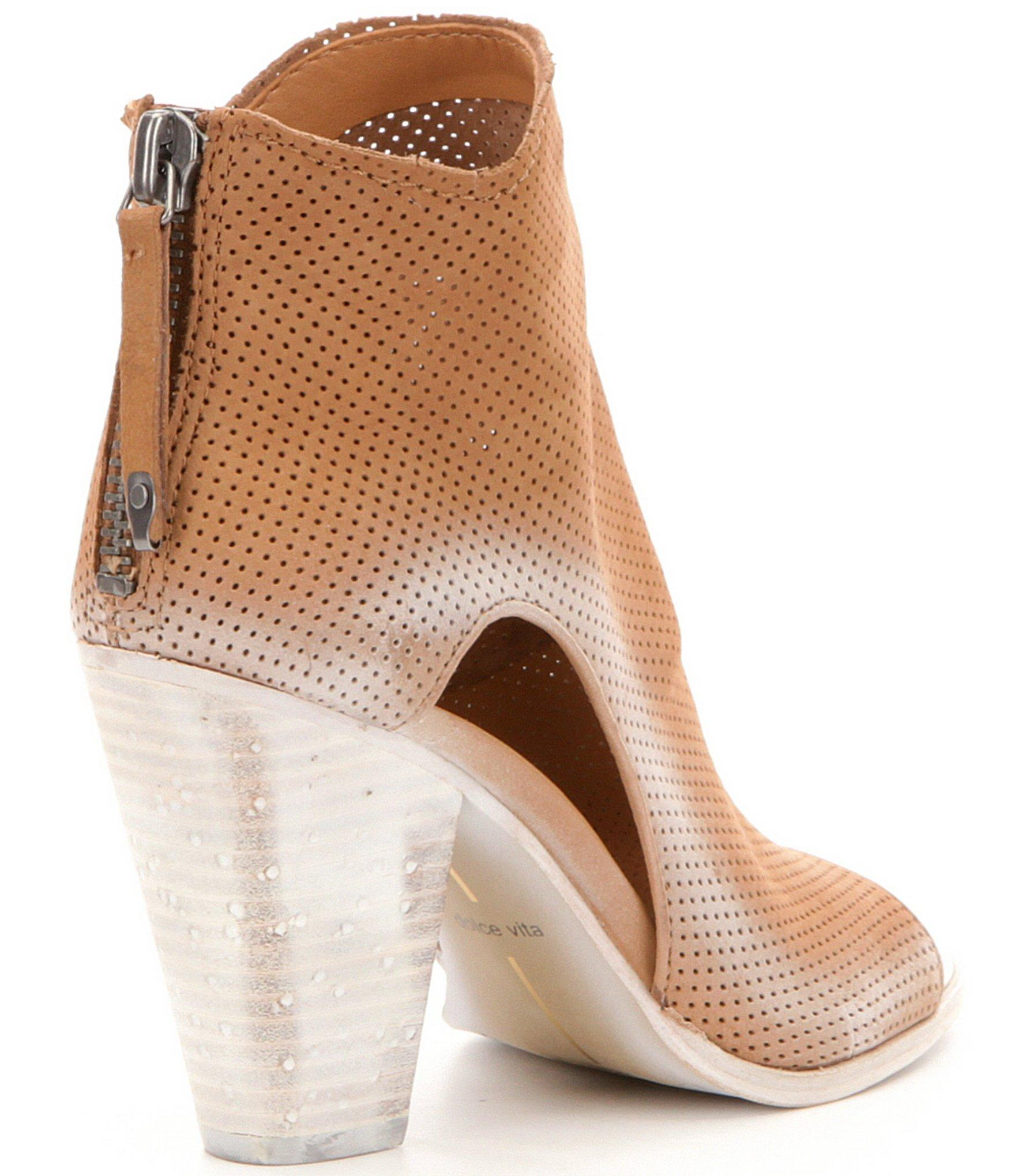 Lyst Dolce Vita Harem Perforated Leather Peep Toe Block