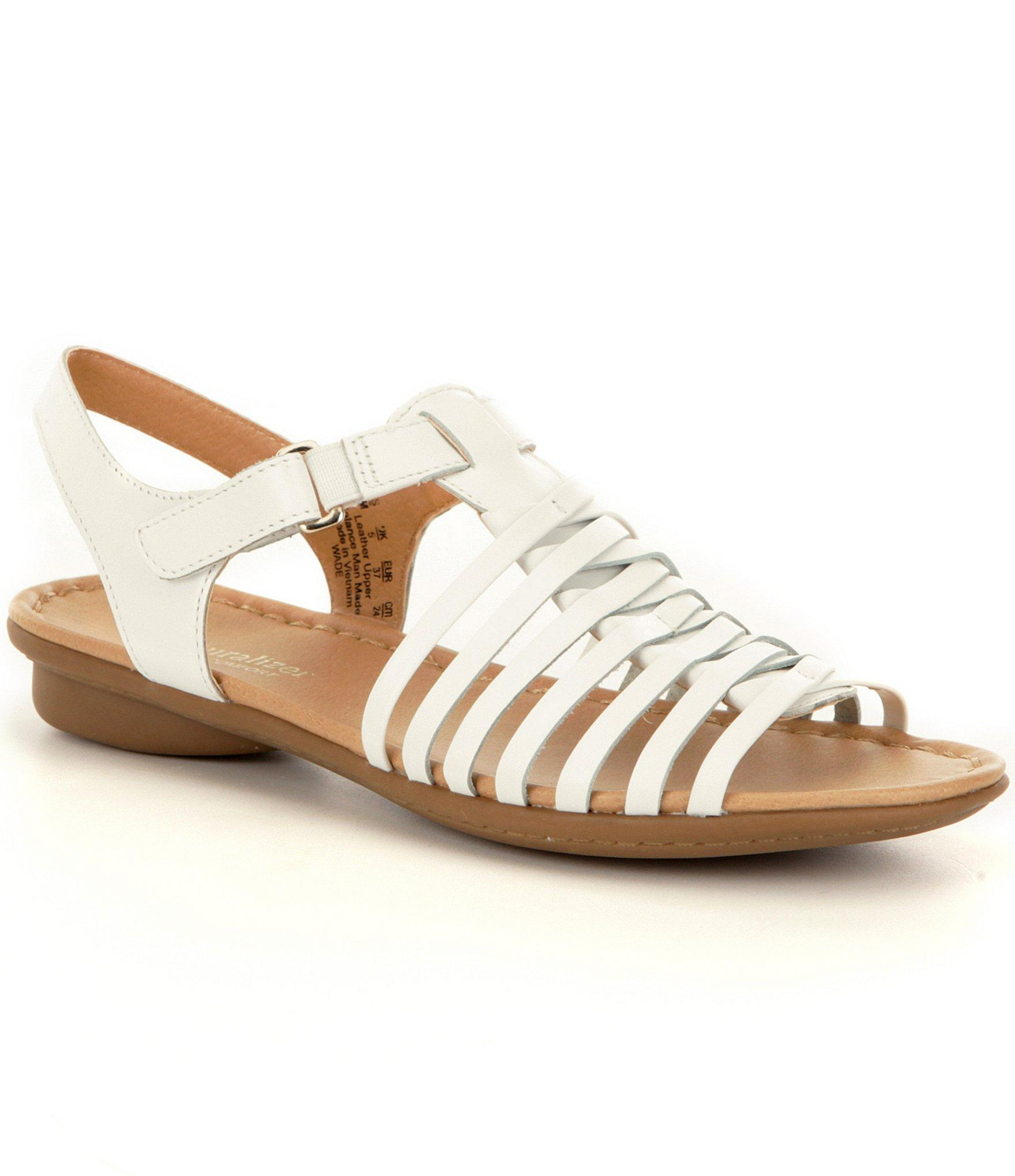 Lyst Naturalizer Wade Strappy Leather Sandals In White