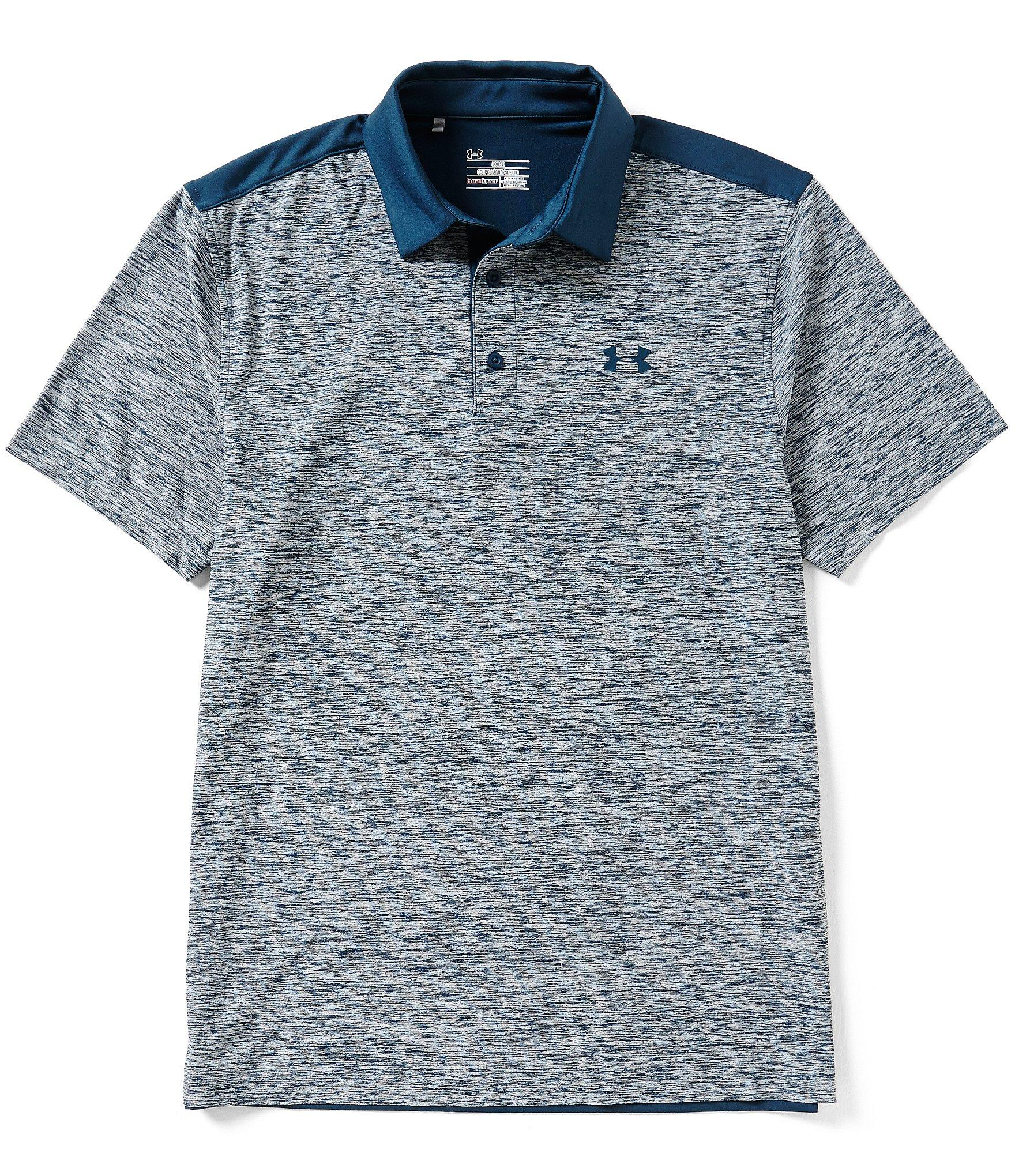 Lyst under armour golf playoff color block space dyed for Teal under armour shirt