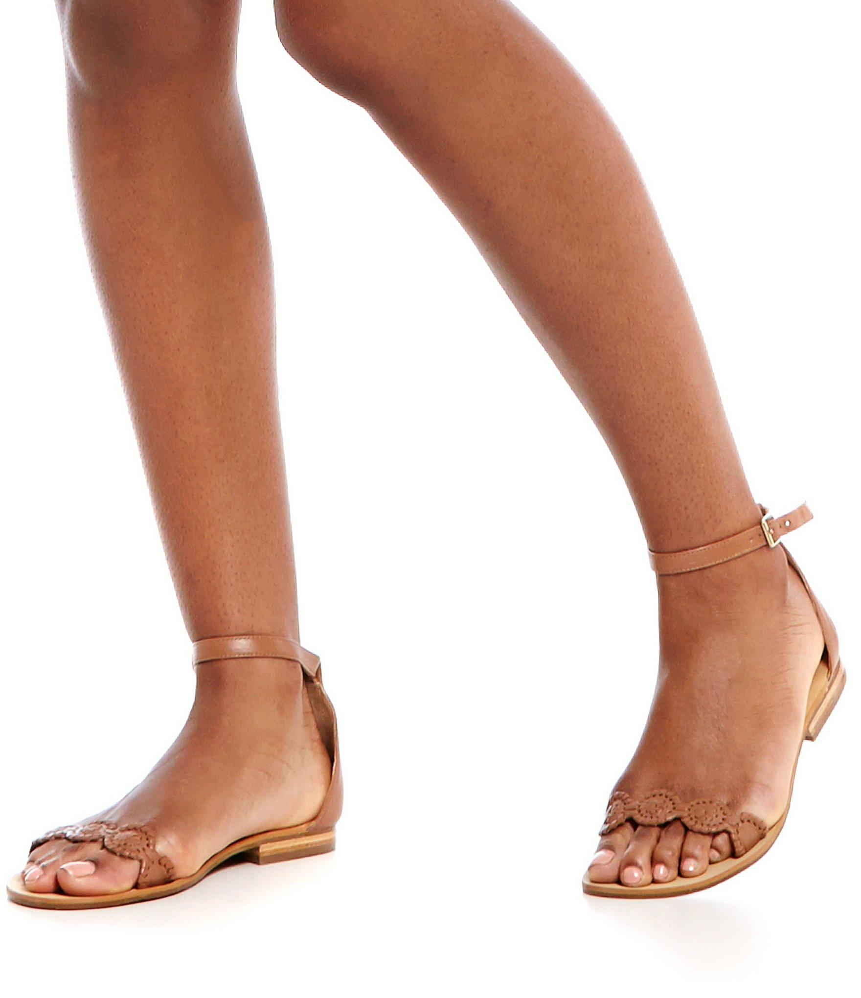 ff16586f38ad5 Lyst - Jack Rogers Daphne Leather Ankle Strap Sandals