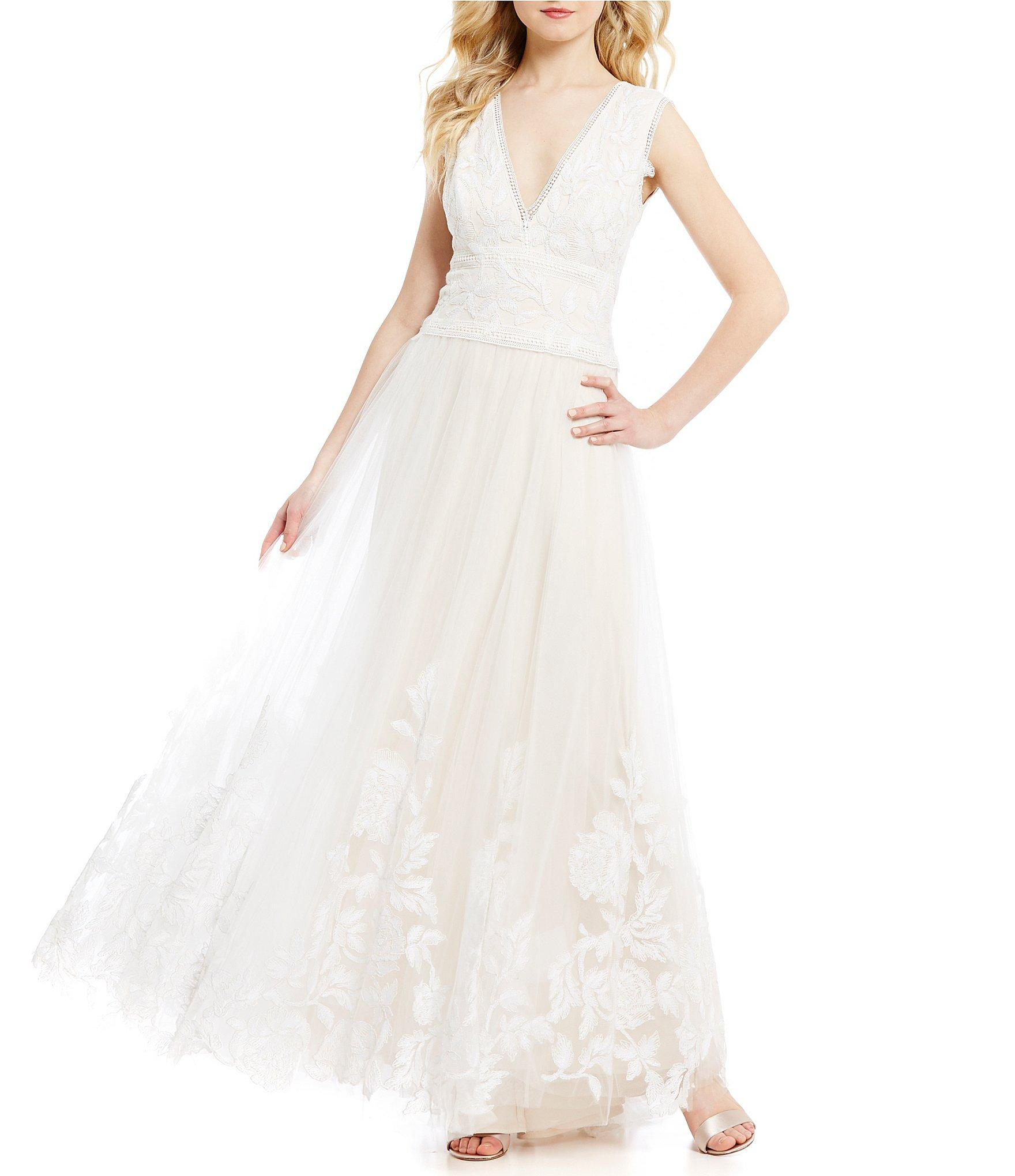 Dillards Wedding Dresses Ivory Alex Evenings Empire Waist Lace ...