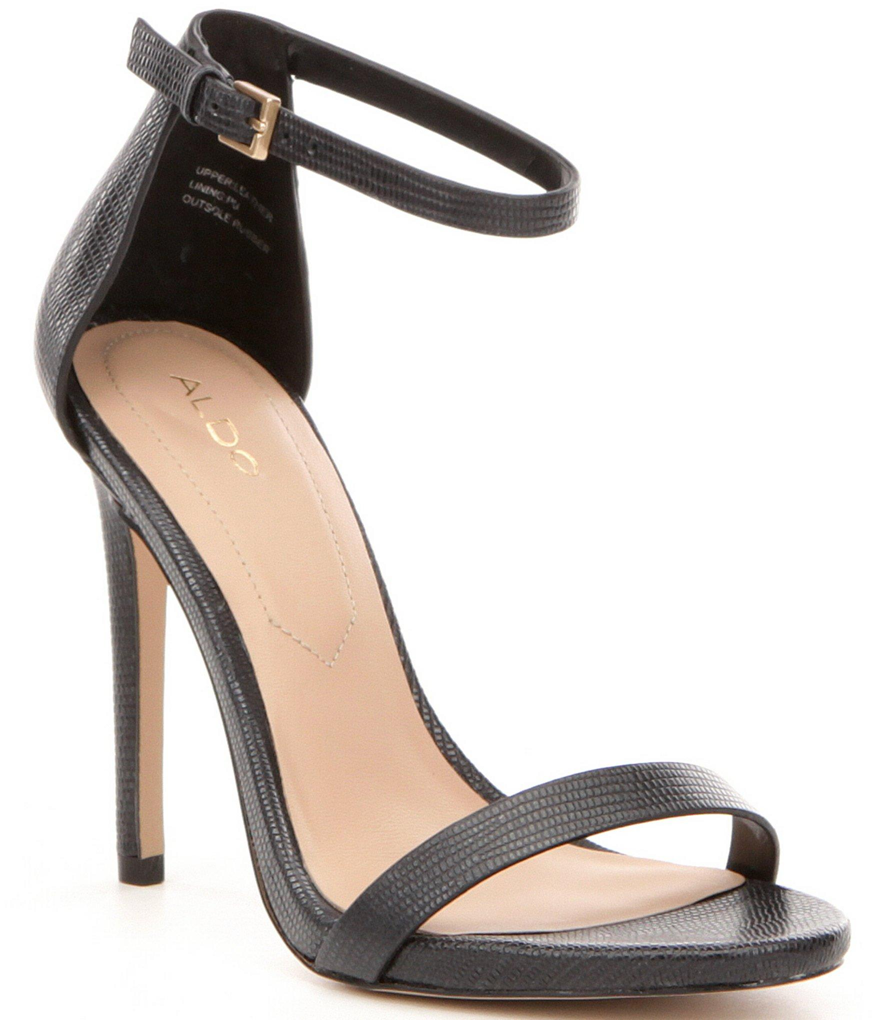 Dress up with a two-piece look in the Beella Ankle Strap Sandal from Madden Girl. Faux suede, smooth or fabric upper in a dress sandal style with an open toe/5(40).