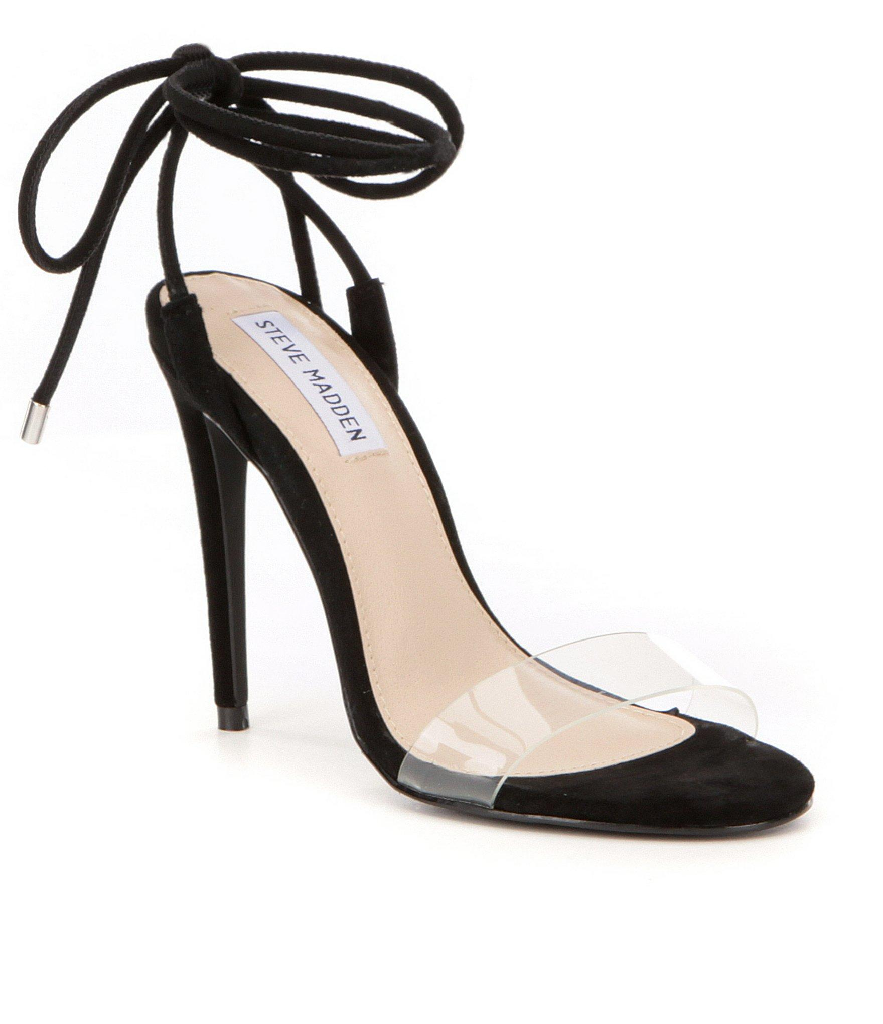 b85cd893034 Lyst - Steve Madden Lyla Ankle Tie Dress Sandals in Black