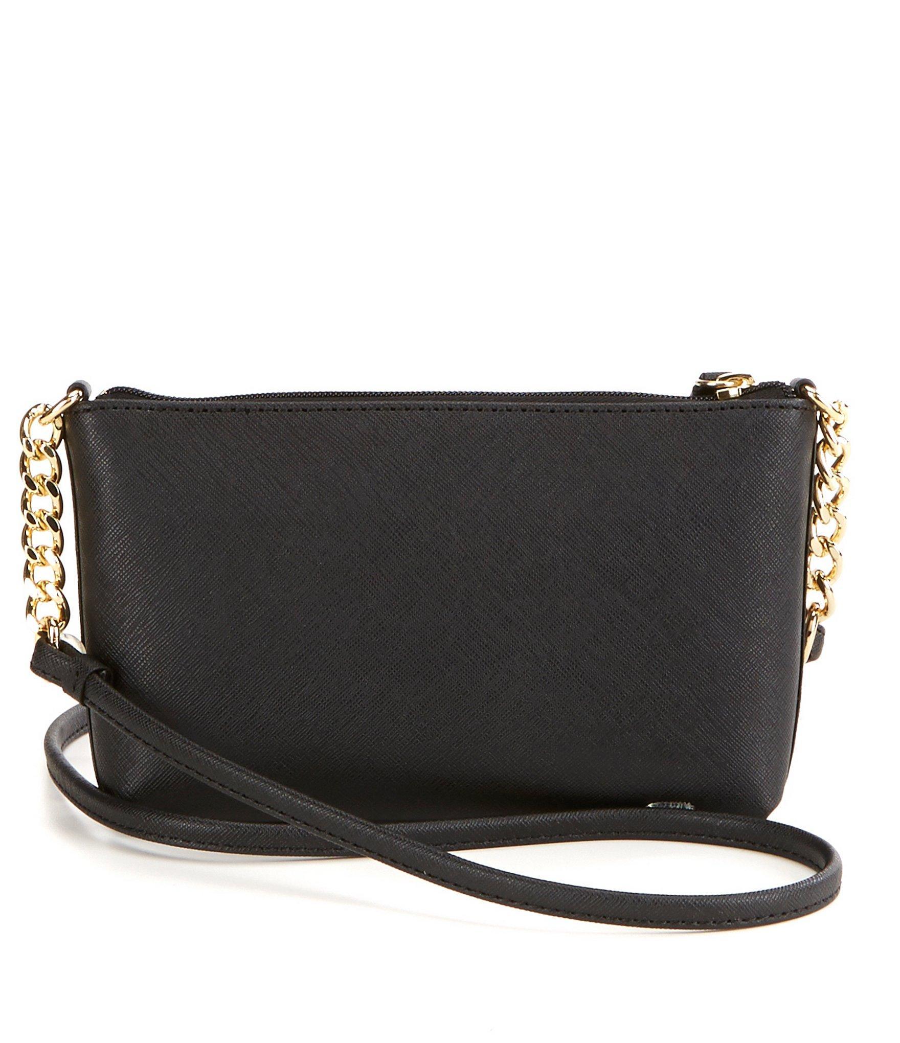 Lyst - Calvin Klein Floral Saffiano Cross-body Bag In Black