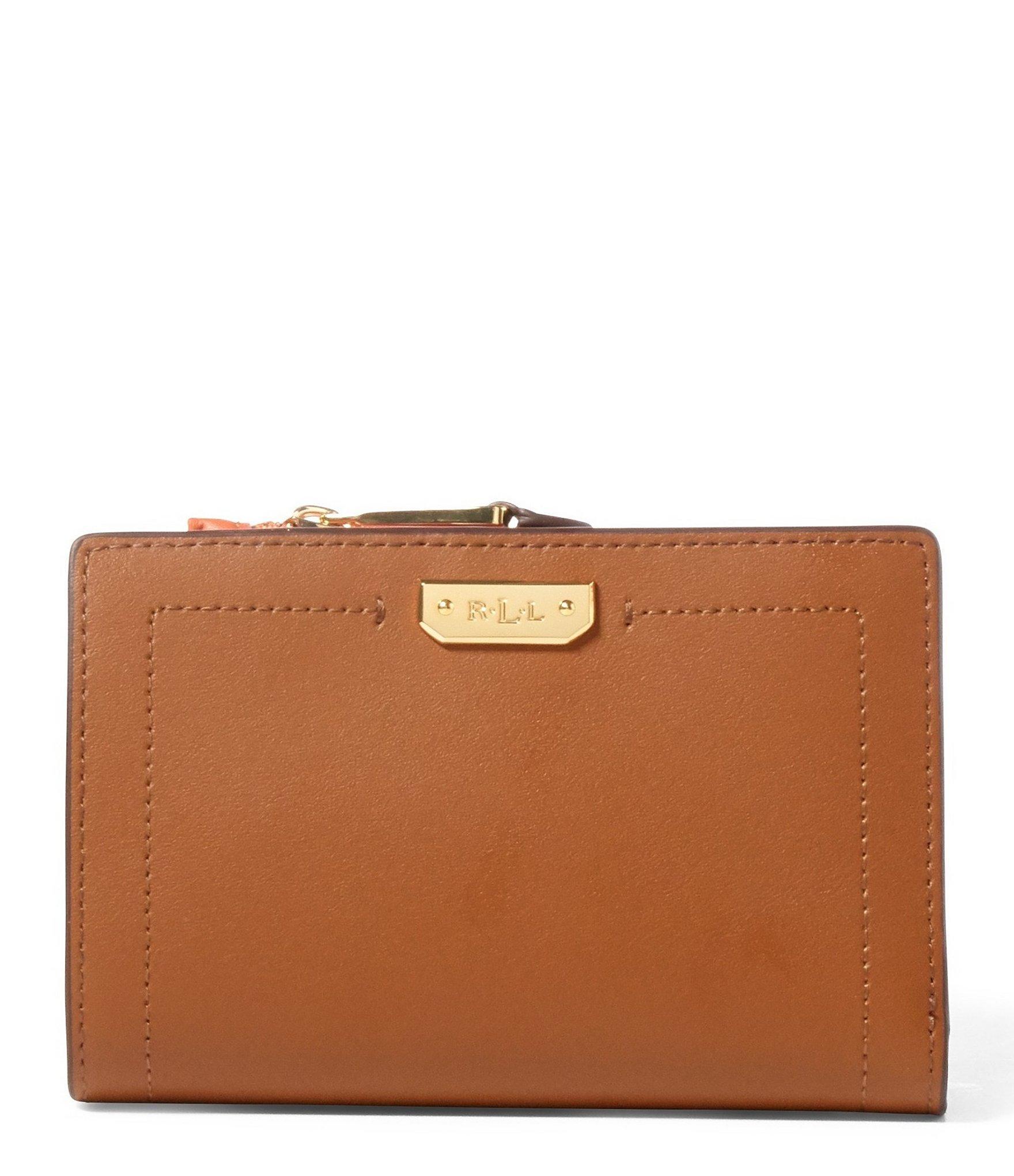 lauren by ralph lauren dryden collection compact wallet in brown
