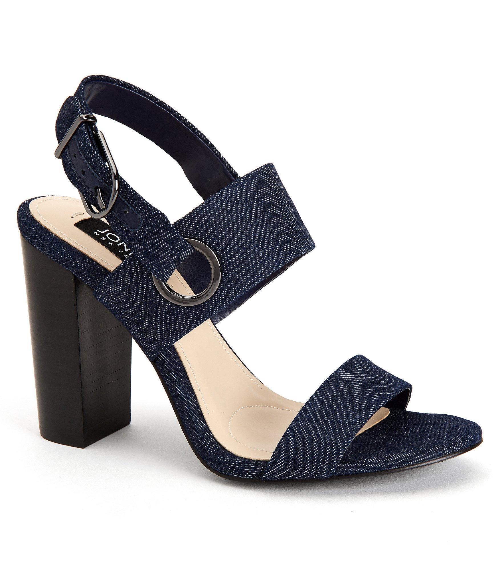 Jones New York Jayla Denim Sandals In Blue Lyst