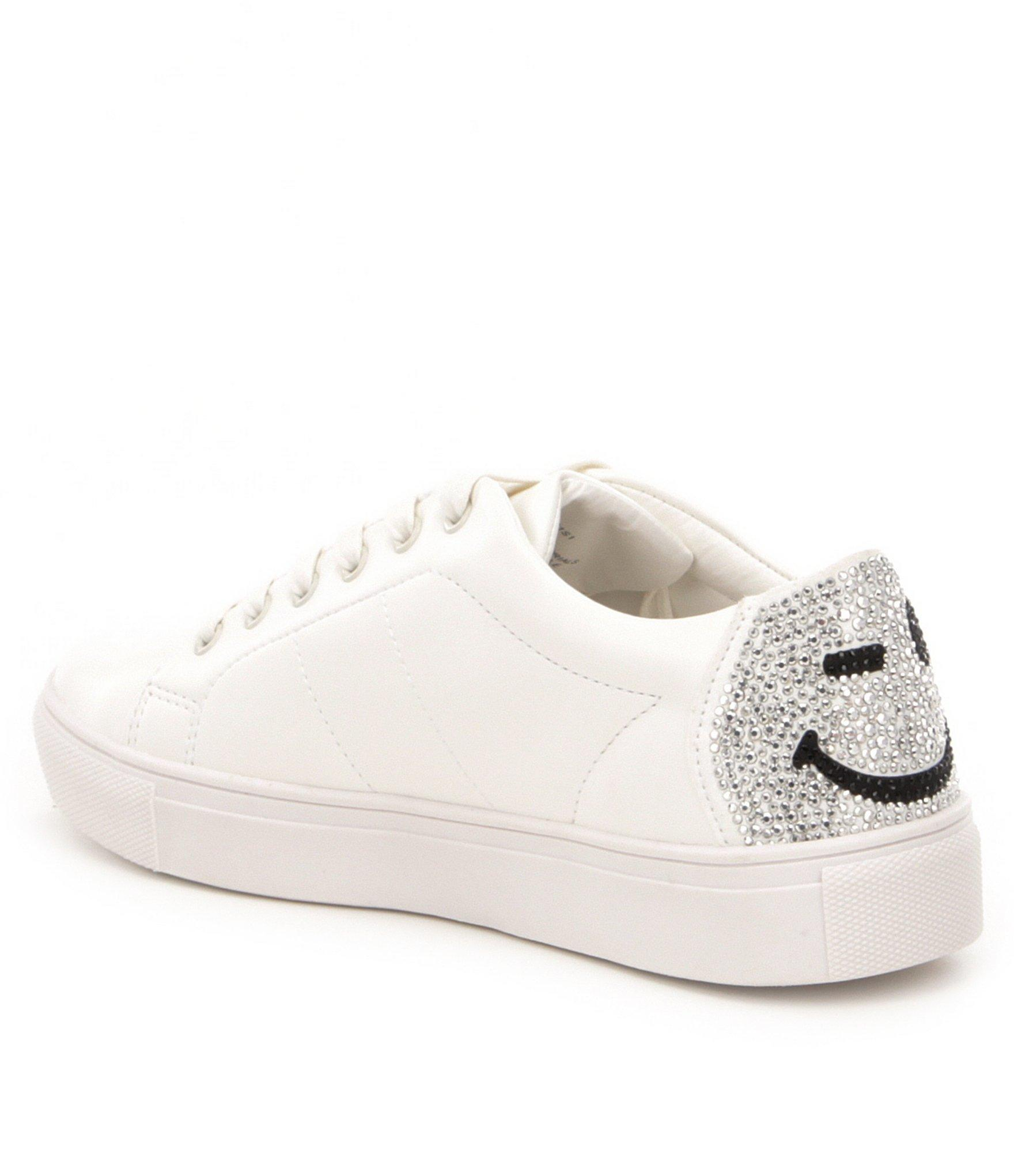 995cd92409f Lyst - Steve Madden Smiley Sneakers in White