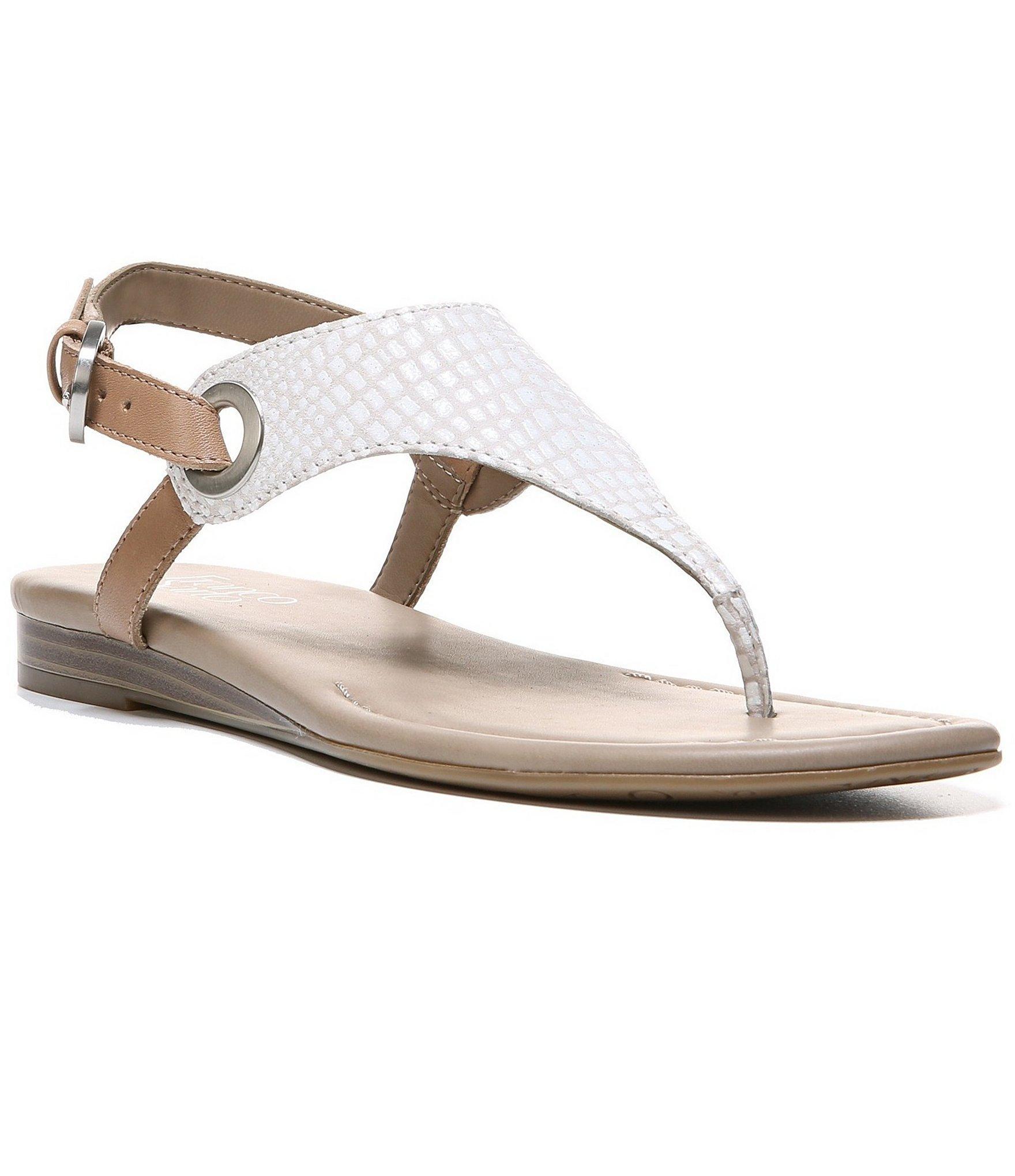 Lyst Franco Sarto Grip Sanke Print Thong Sandals
