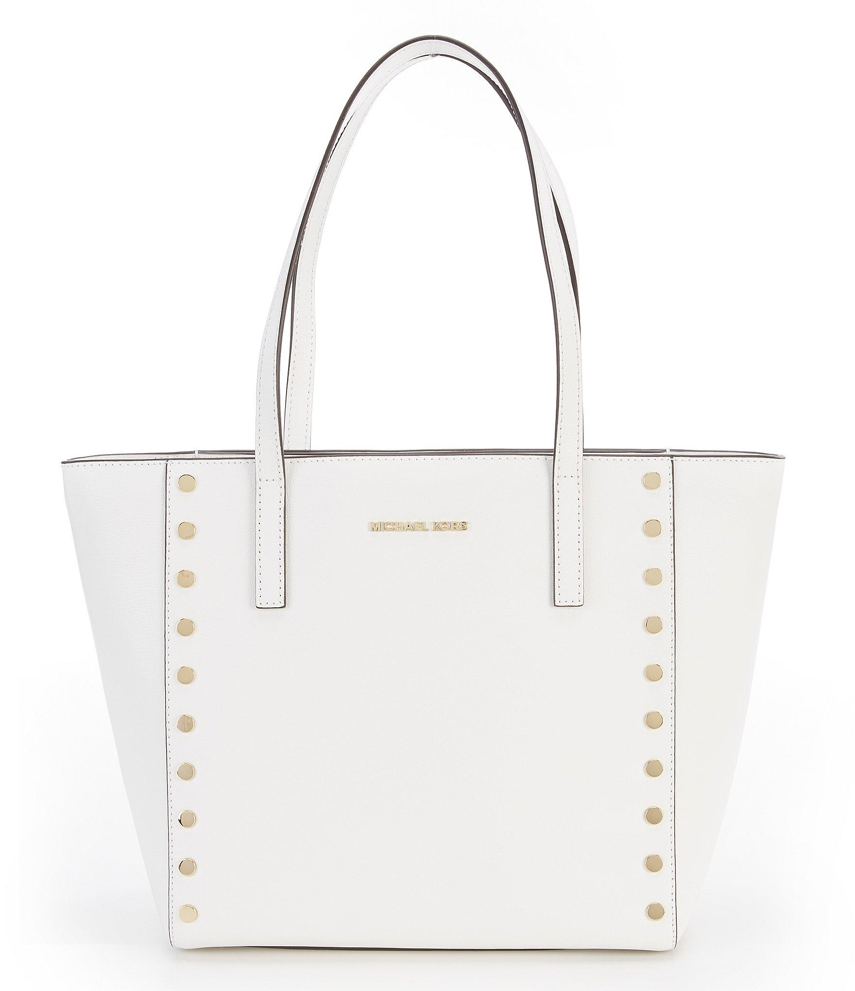 0cba8b8ac603 Lyst - Michael Michael Kors Rivington Studded Tote in White