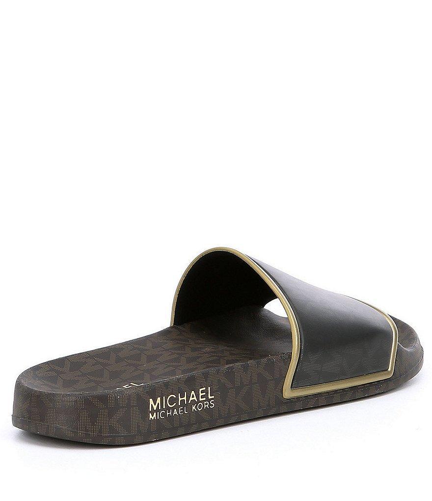 Lyst Michael Michael Kors Nolan Slides In Black