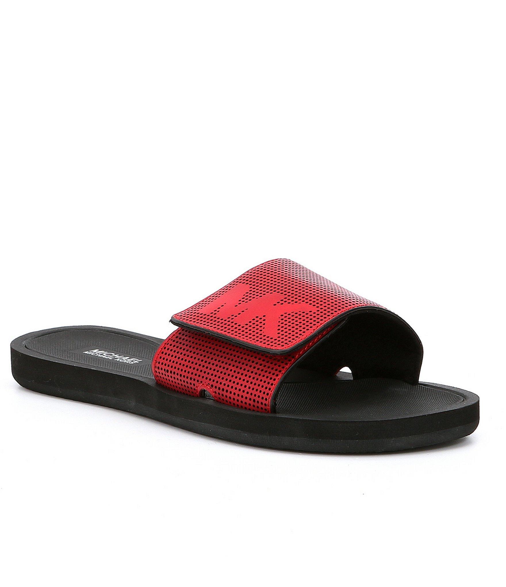 Lyst Michael Michael Kors Mk Slides Sandals In Red