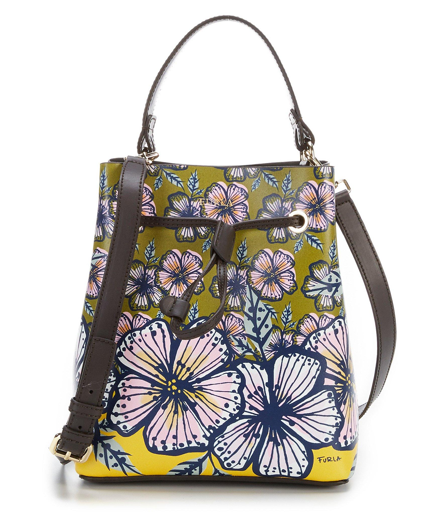 Lyst Furla Stacy Floral Small Drawstring Bucket Bag