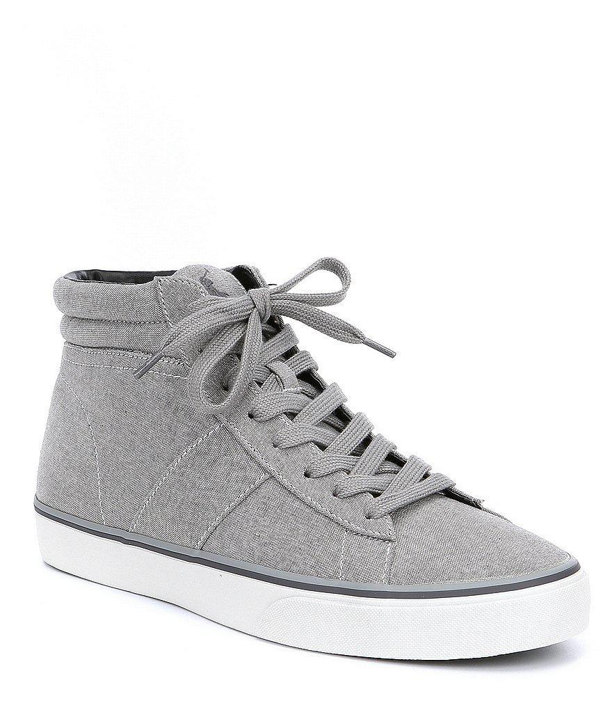 Polo Ralph Lauren. Gray Men's Shaw Hi Top Sneakers