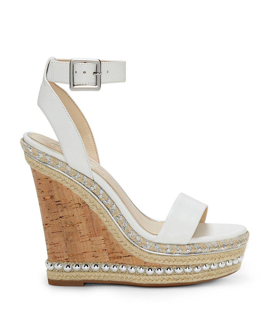 Alinda Print Braided Detail Ankle Strap Wedge Sandals 0BzEO1d4