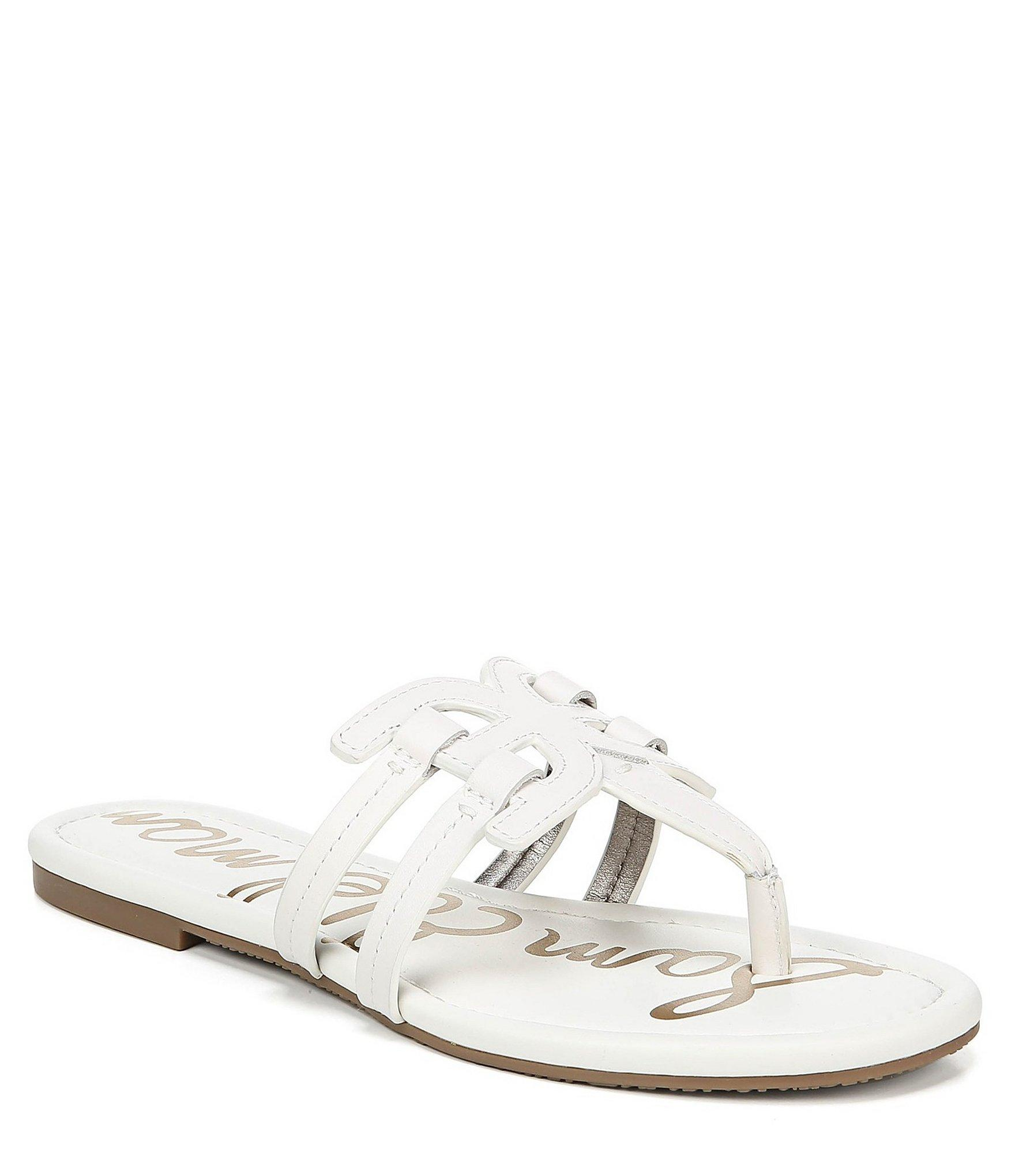 7fac5cd551224f Lyst - Sam Edelman Cara Leather Double E Sandals in White
