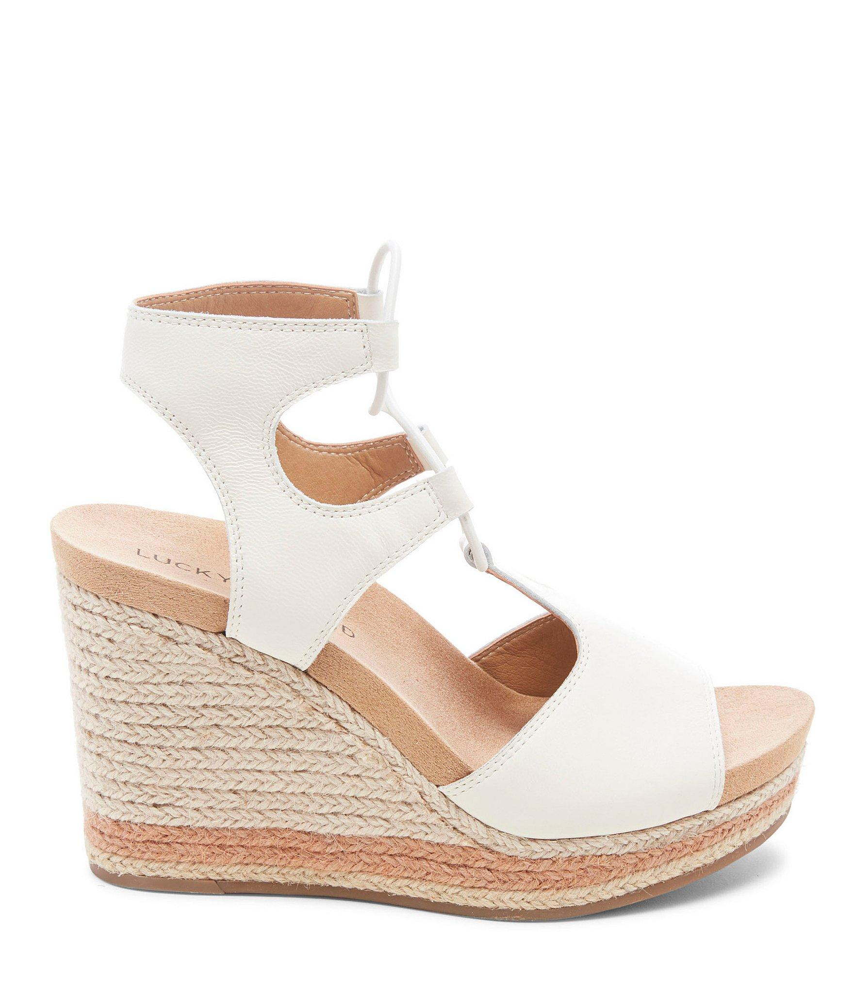 7ac76cc8b Lucky Brand - Multicolor Yejida2 Leather Platform Wedge Sandals - Lyst.  View fullscreen