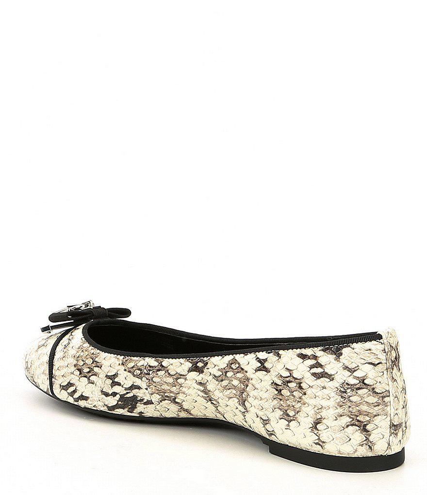 Alice Embossed Snake Print Leather Ballet Flats X8bZYt