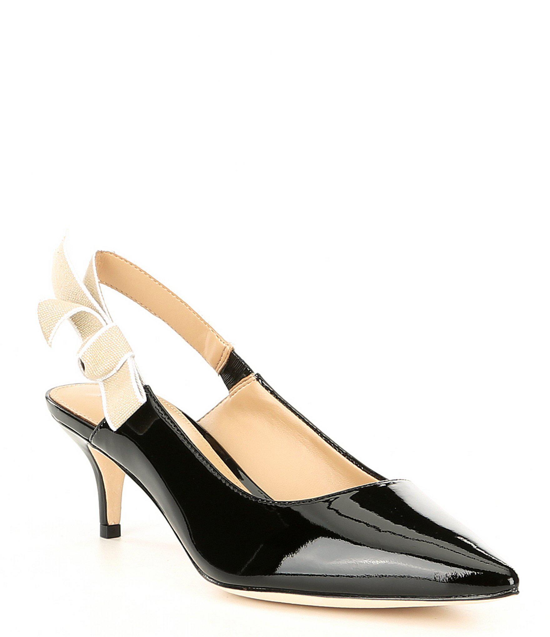f18b14a163c Lyst - Antonio Melani Luvata Patent Leather Slingback Kitten Heel ...