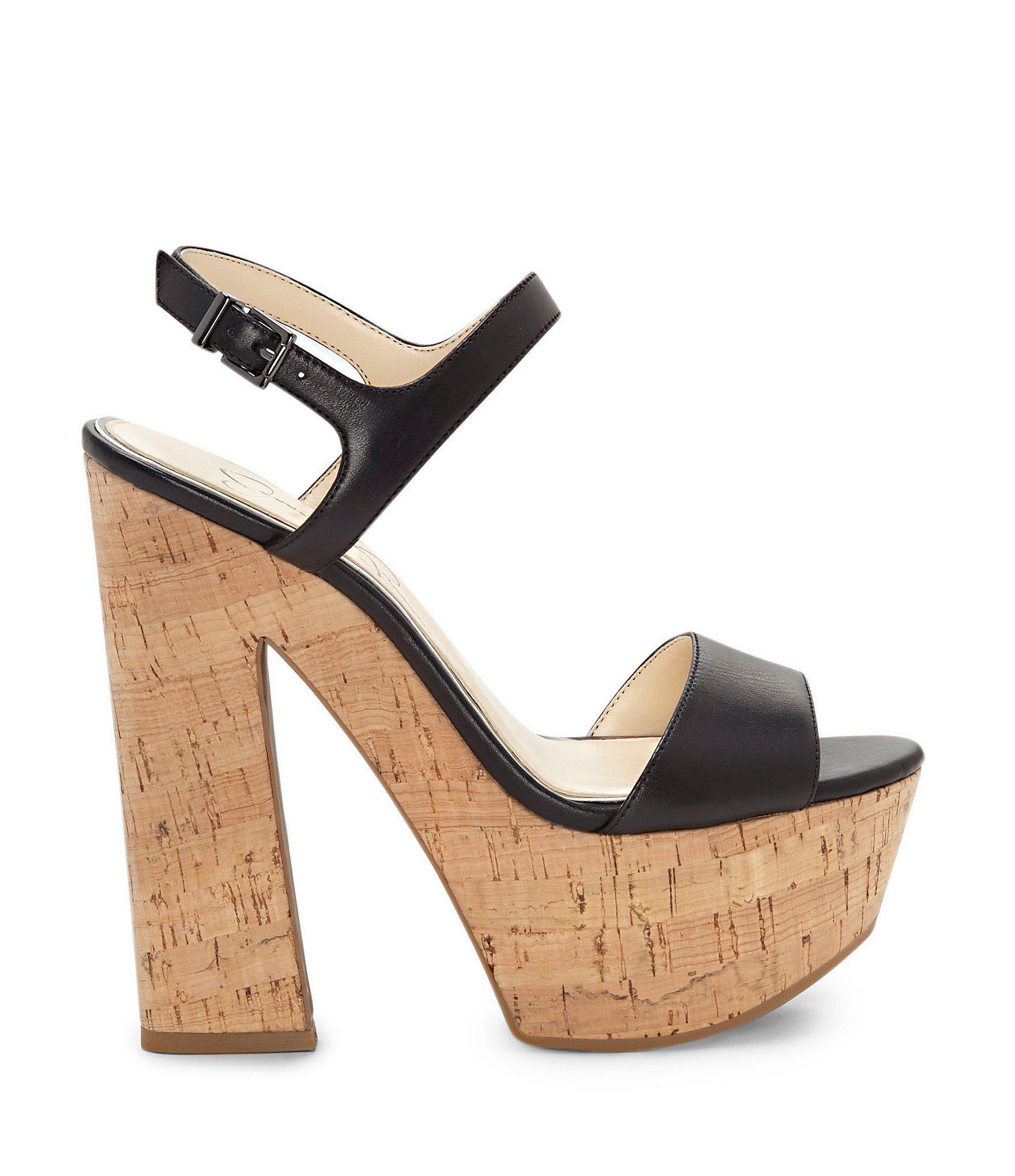 e959f8a0c3f Lyst - Jessica Simpson Divella Platform Sandals in Black