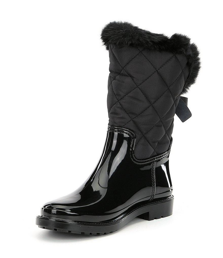 Reid Faux Fur Quilted Water Resistant Rainboots Yn2ZnMTQ